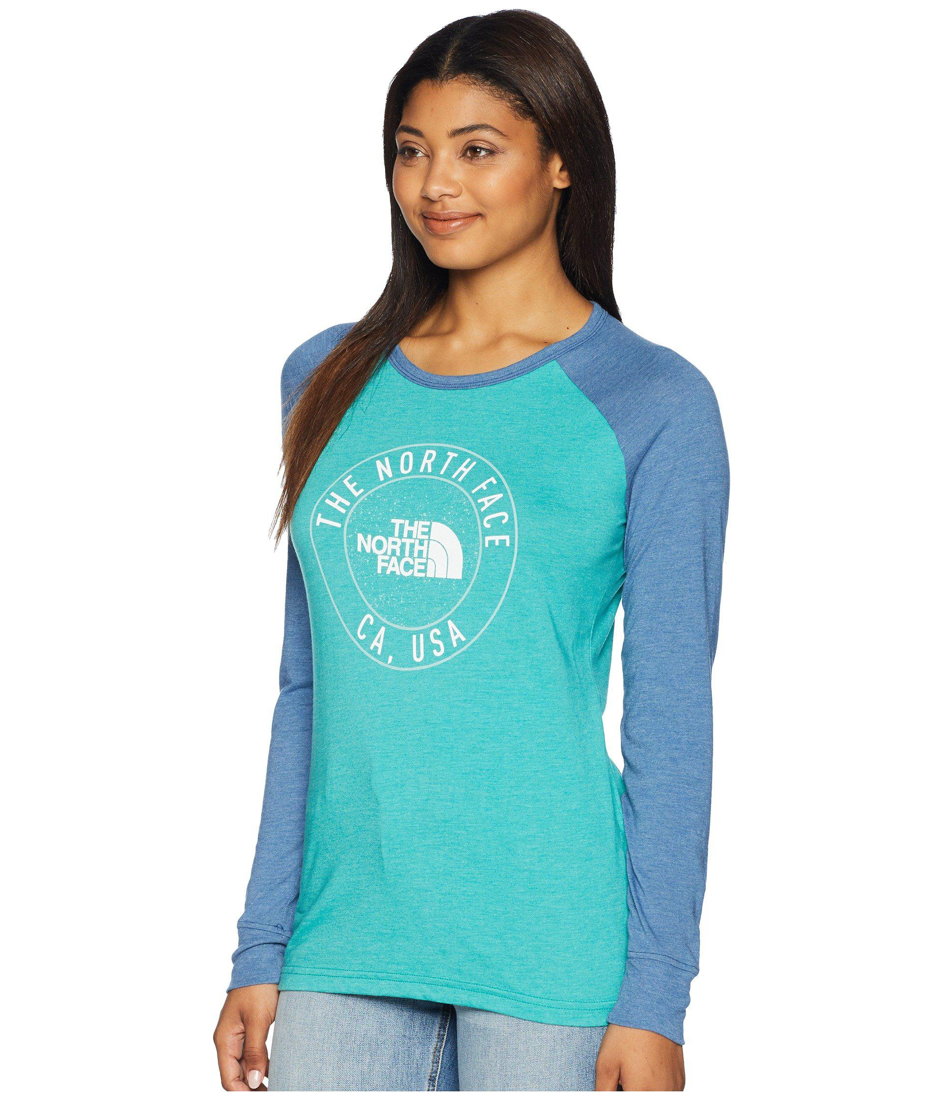 564ca70b3f9a Lyst - The North Face Long Sleeve Malibae Tri-blend Tee (porcelain ...