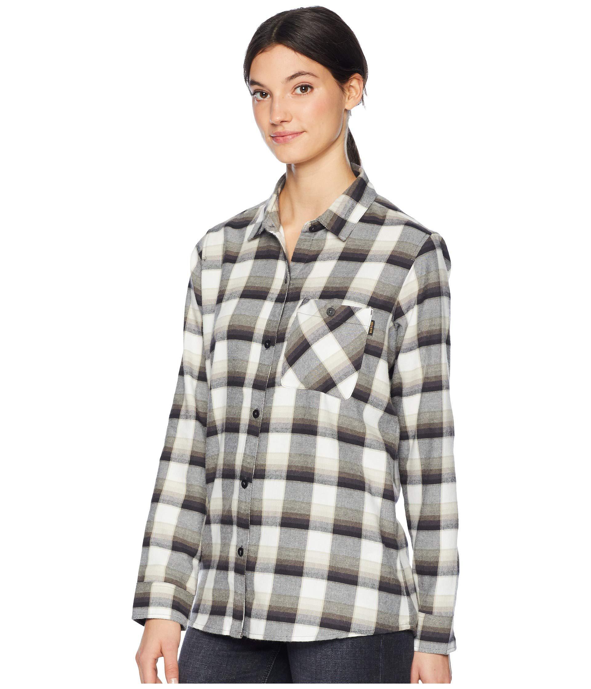 7262c31b Lyst - Burton Grace Flannel (true Black Sunset Plaid) Women's Clothing