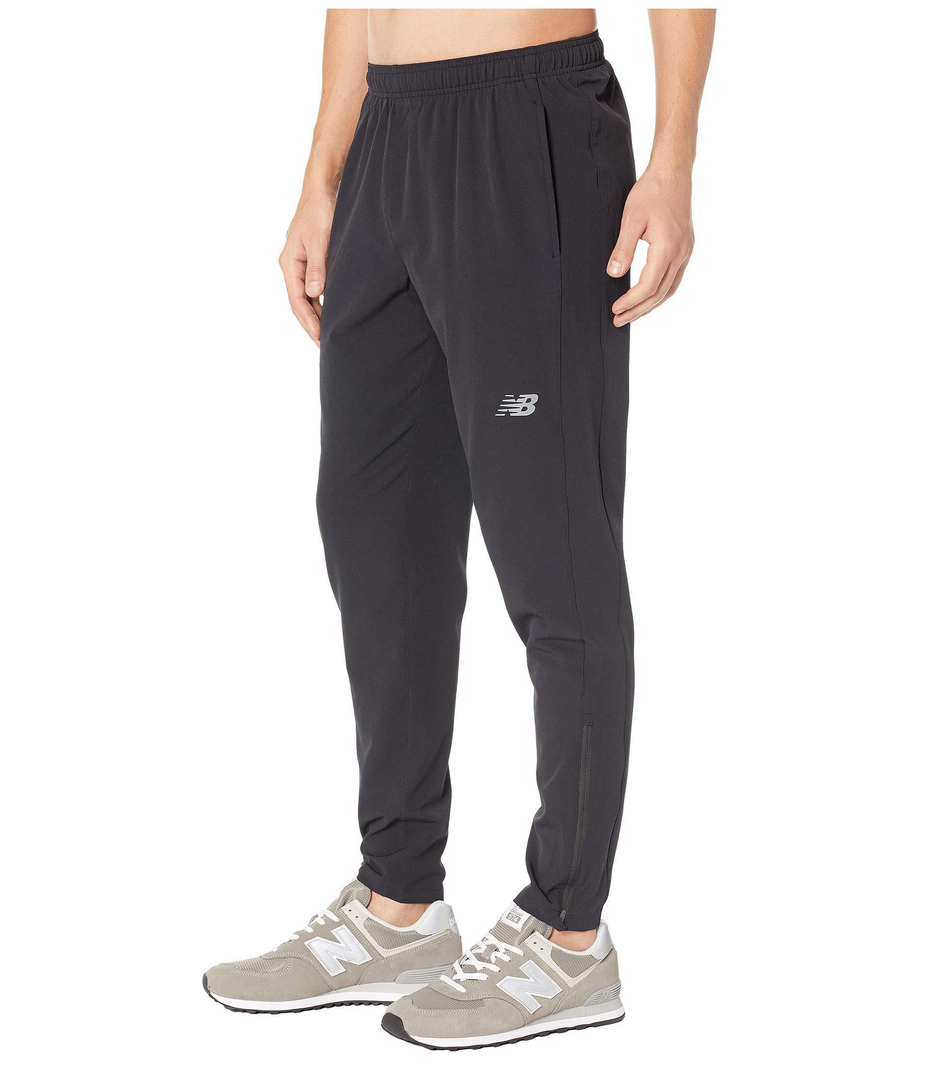 New Balance Synthetic Tenacity Woven Track Pants (black) Men's ...