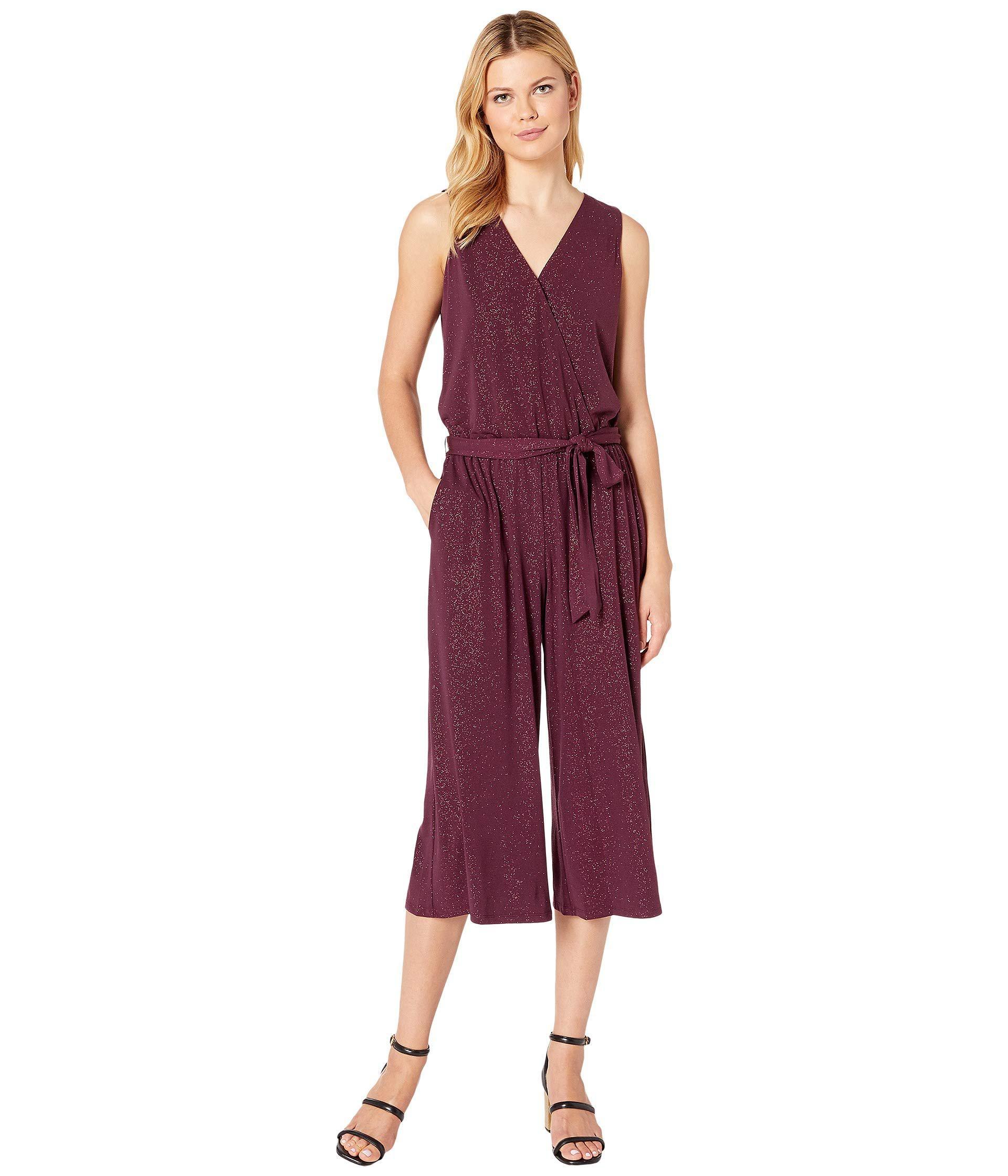 1bb56b03e937 Lyst - MICHAEL Michael Kors Wrap Crop Jumpsuit (cordovan) Women s ...