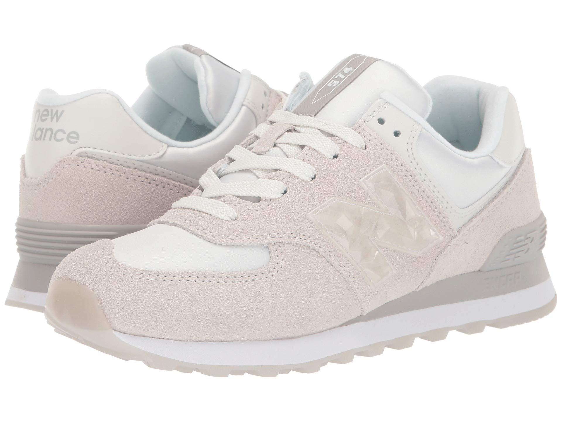 New Balance Suede Wl574v2-usa in Beige (Natural) - Lyst