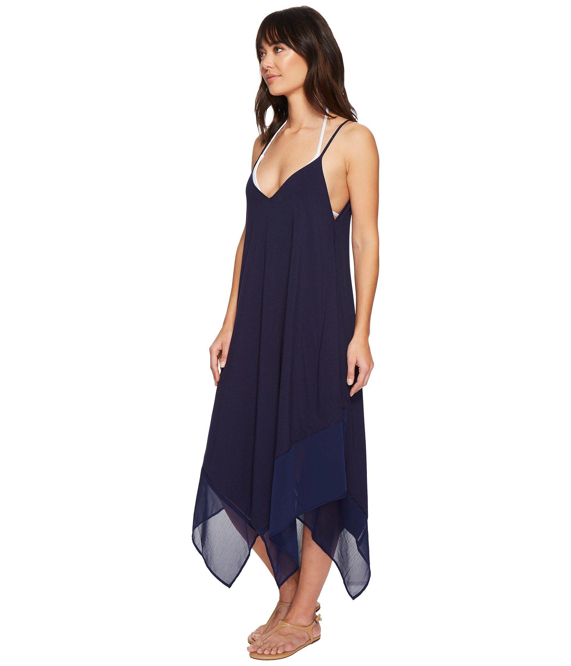 7554ee78d1 Lyst - Tommy Bahama Cotton Modal Scarf Dress Cover-up (black) Women s  Swimwear in Blue