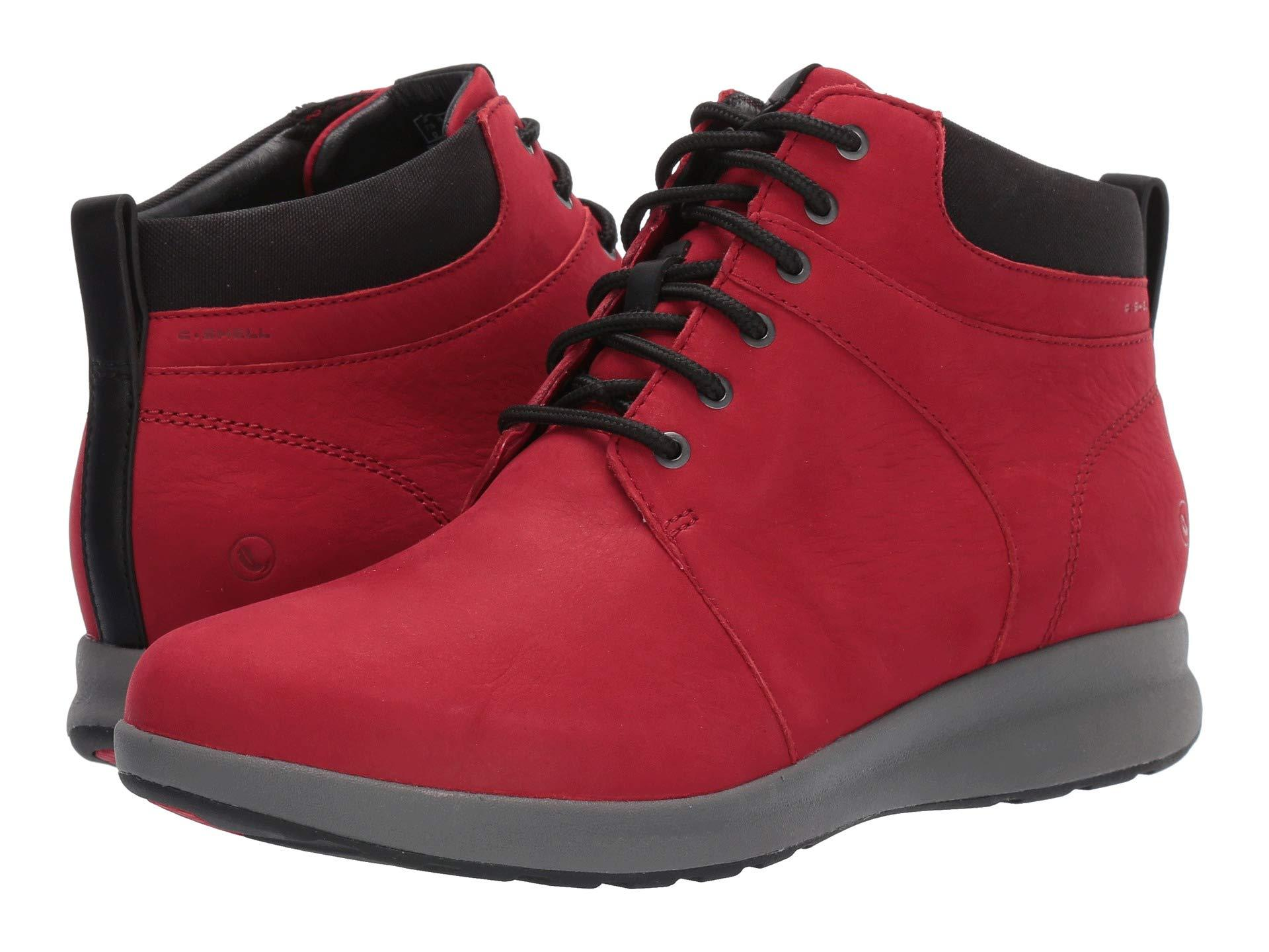 Clarks Lace Un Adorn Walk in Red - Lyst