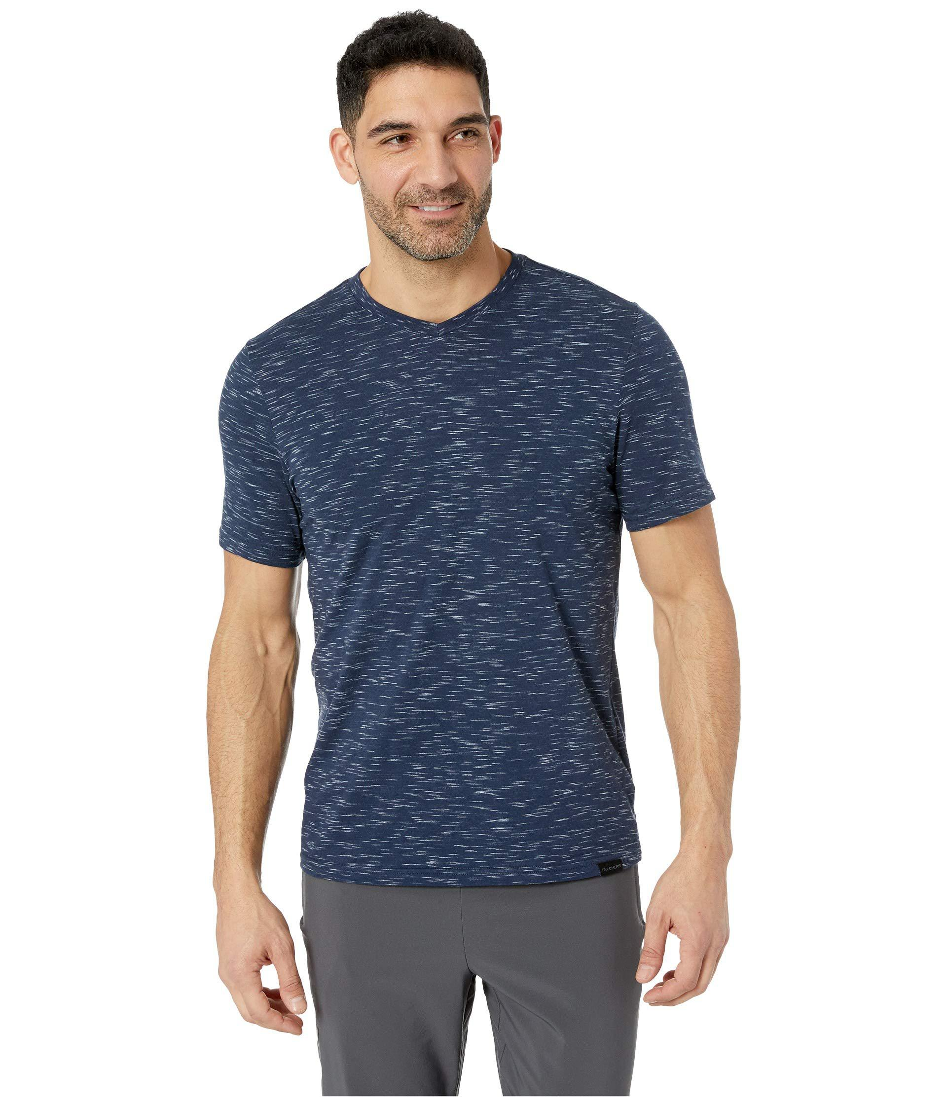 845189aac3b4 Lyst - Skechers Fields V-neck Tee (navy) Men s T Shirt in Blue for Men