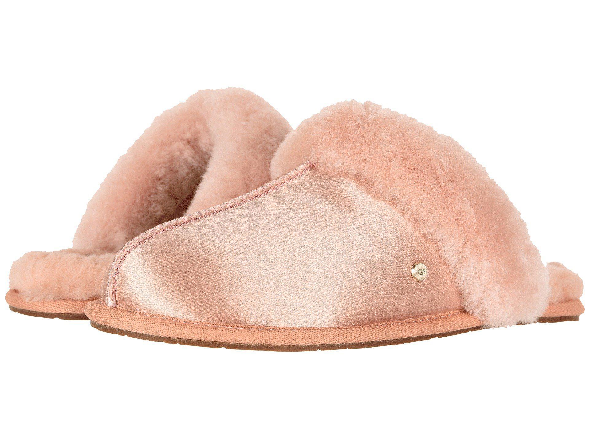 2cc60d7c7 Lyst - UGG Scuffette Ii Satin (suntan) Women s Slippers in Pink