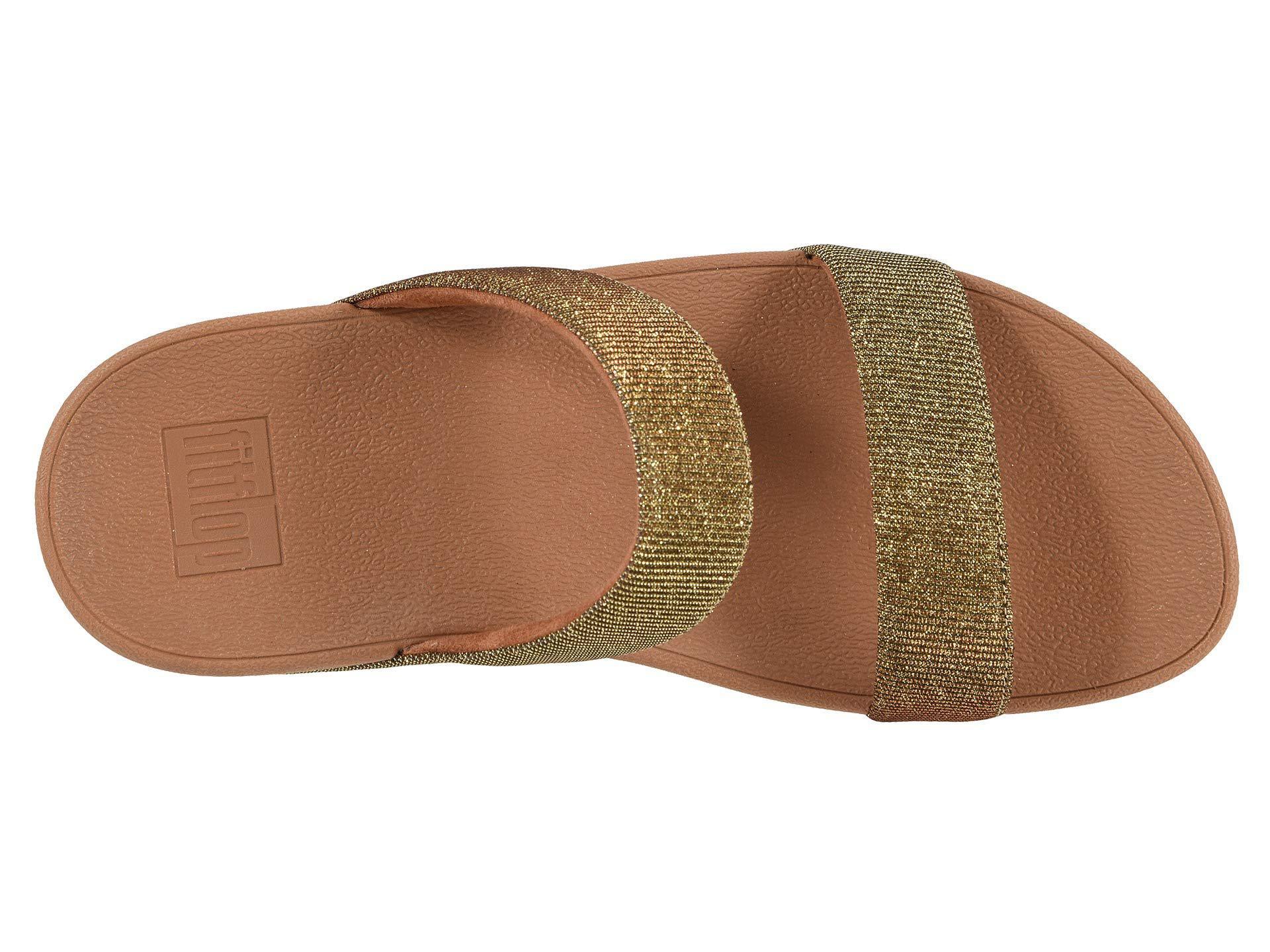 ab7a8585f Fitflop - Metallic Lottie Glitzy Slide (silver) Women s Shoes - Lyst. View  fullscreen