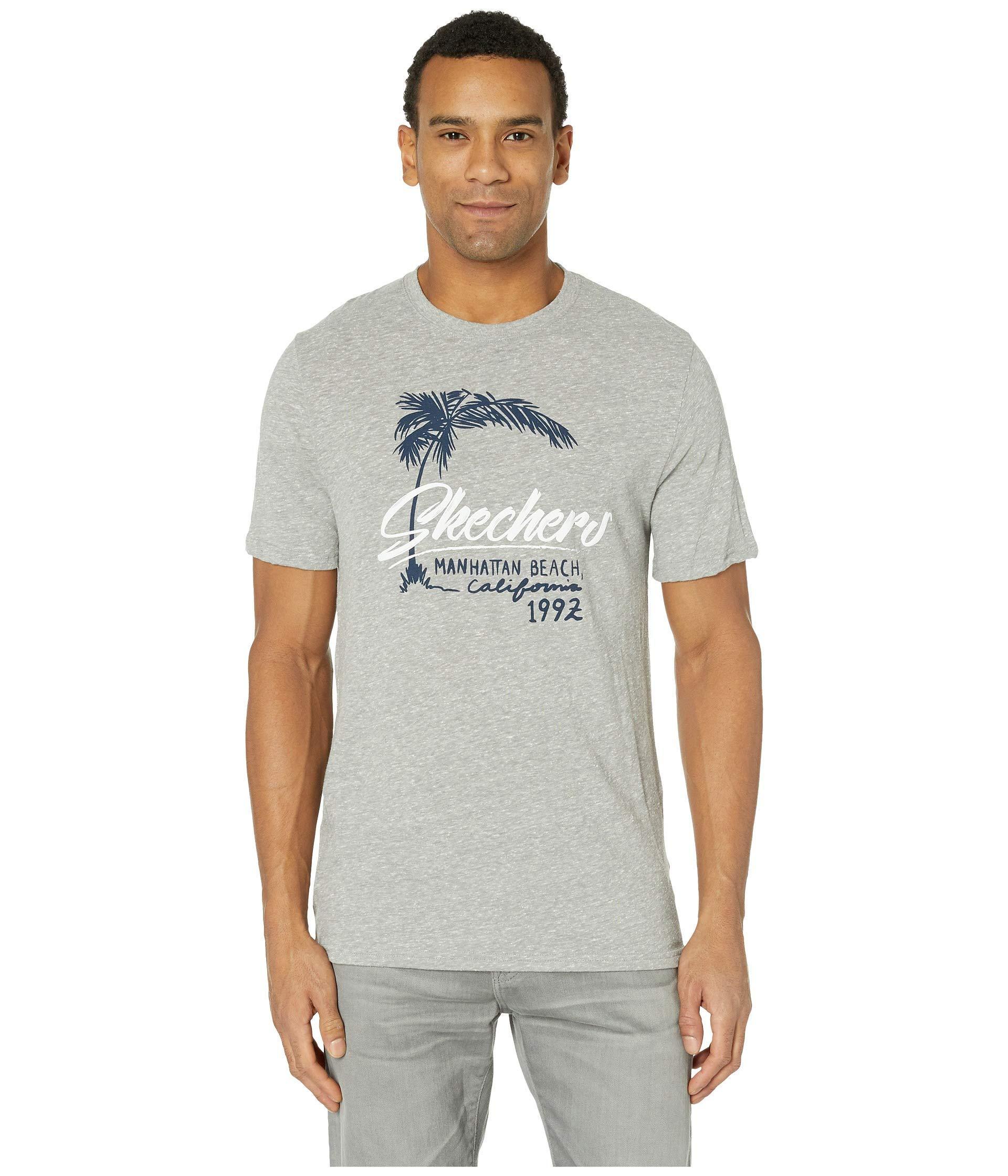 86a8f12459fa Lyst - Skechers Blissful Graphic Tee Manhattan Beach (gray) Men s T ...