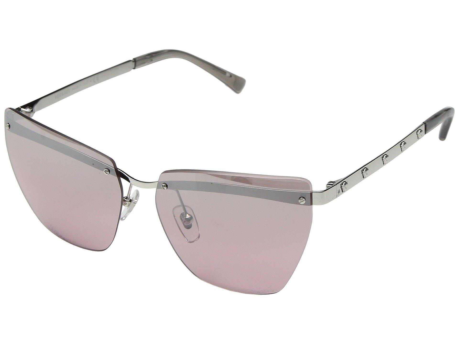 a63a50060da0 Versace. Women s Metallic Ve2190 (pale Gold grey Gradient) Fashion  Sunglasses