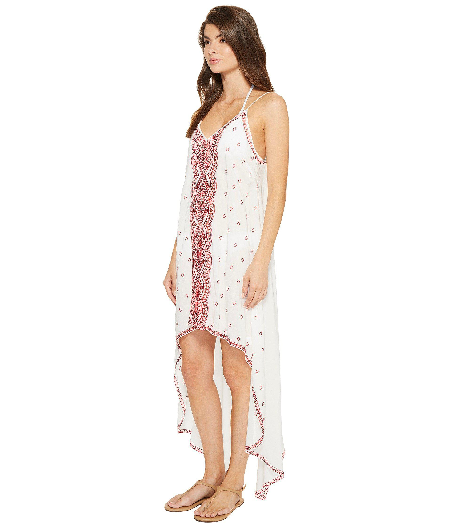6e0dcc6aef Lyst - Nicole Miller La Plage By Embroidered Beach Scarf Dress/cover ...