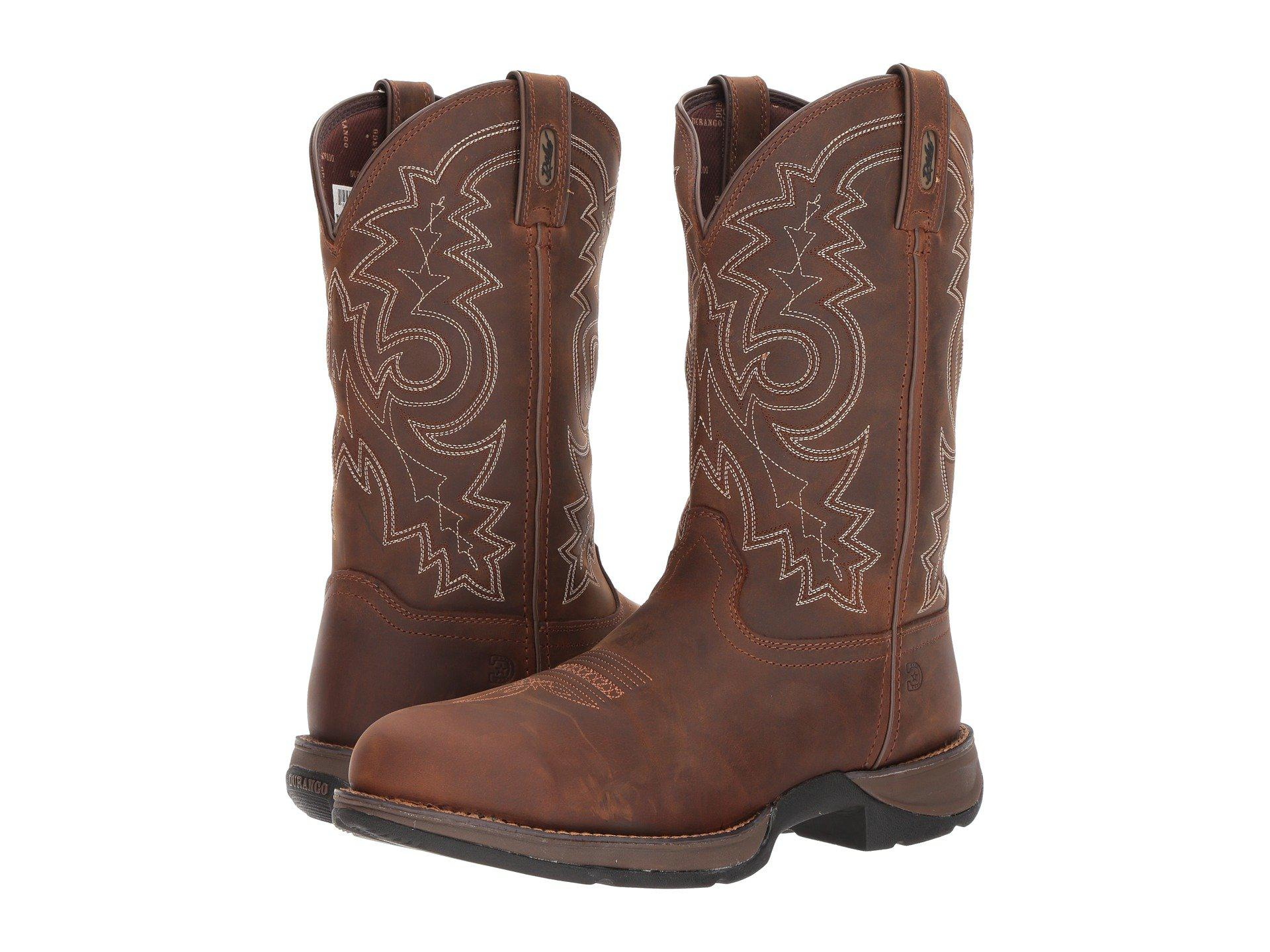 7e0b300b020 Durango Rebel 12 Western Wp Steel Round Toe (coyote Brown) Cowboy Boots for  men