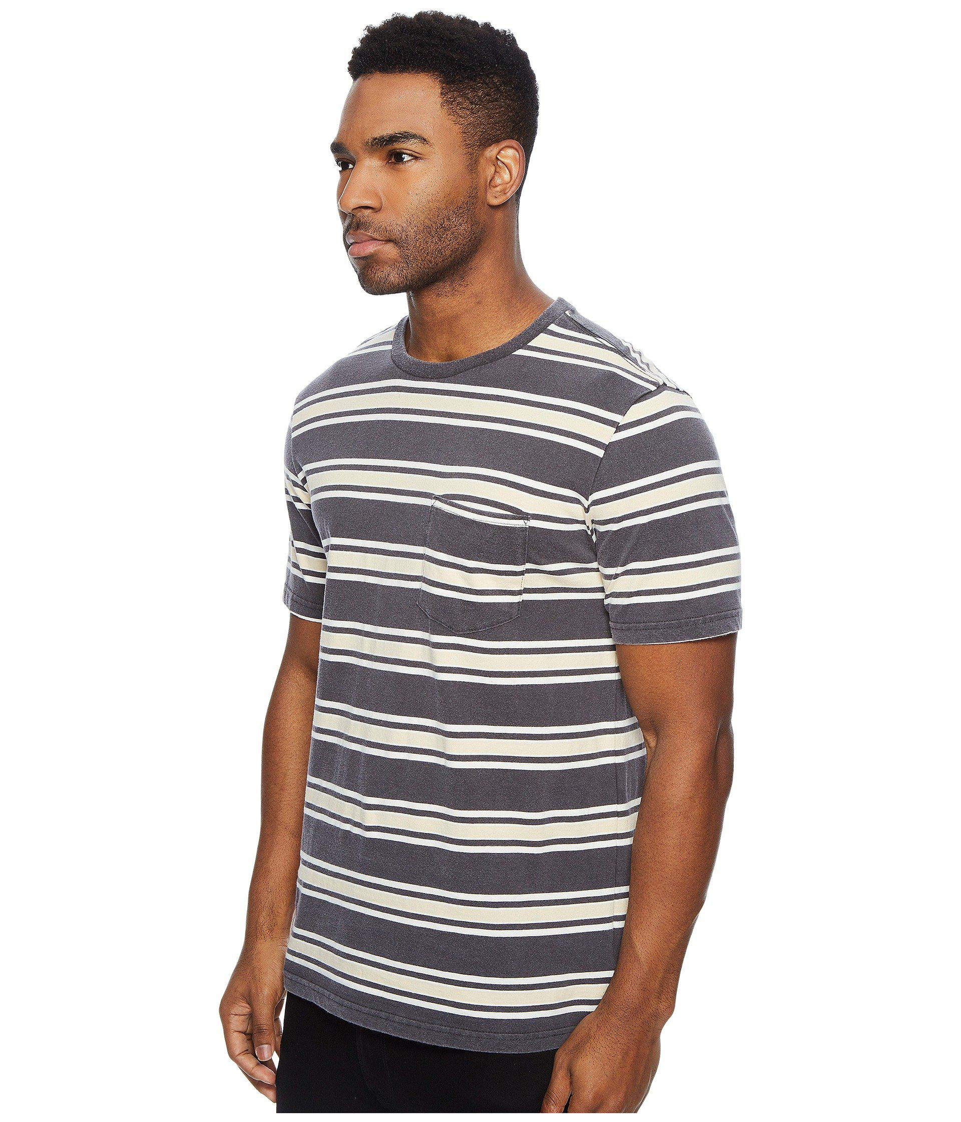Brixton Mens Hilt Tailored Fit Washed Short Sleeve Pocket Knit Tee