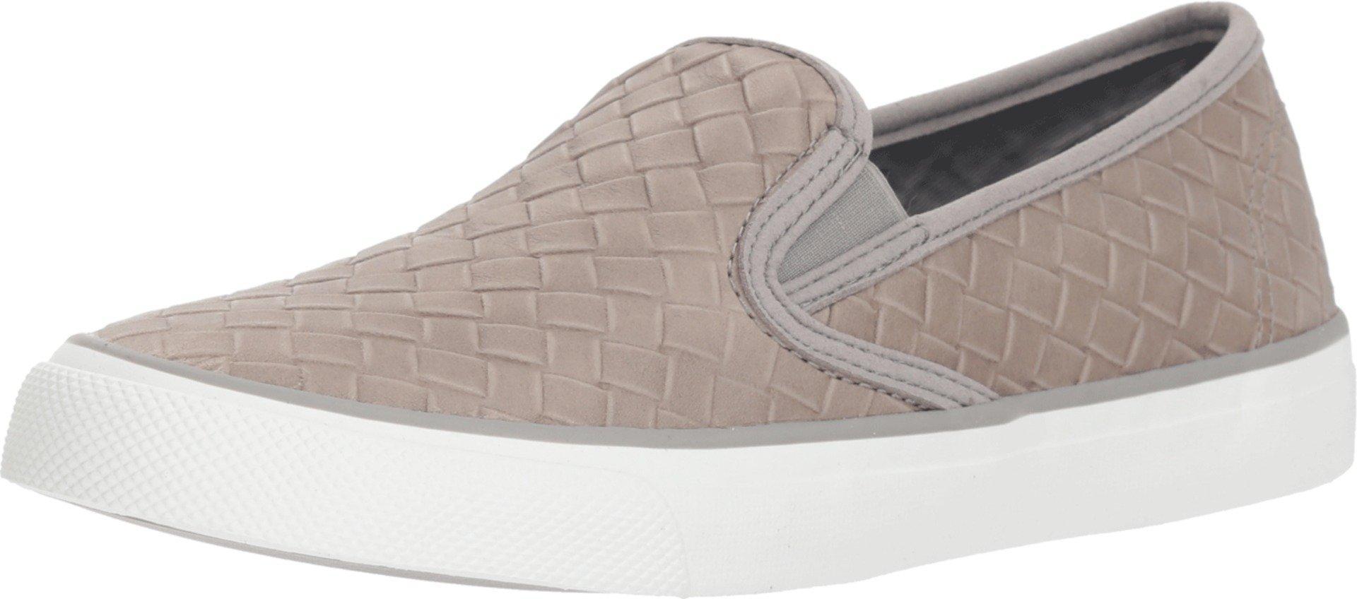 Seaside Emboss Weave Sneaker in Grey