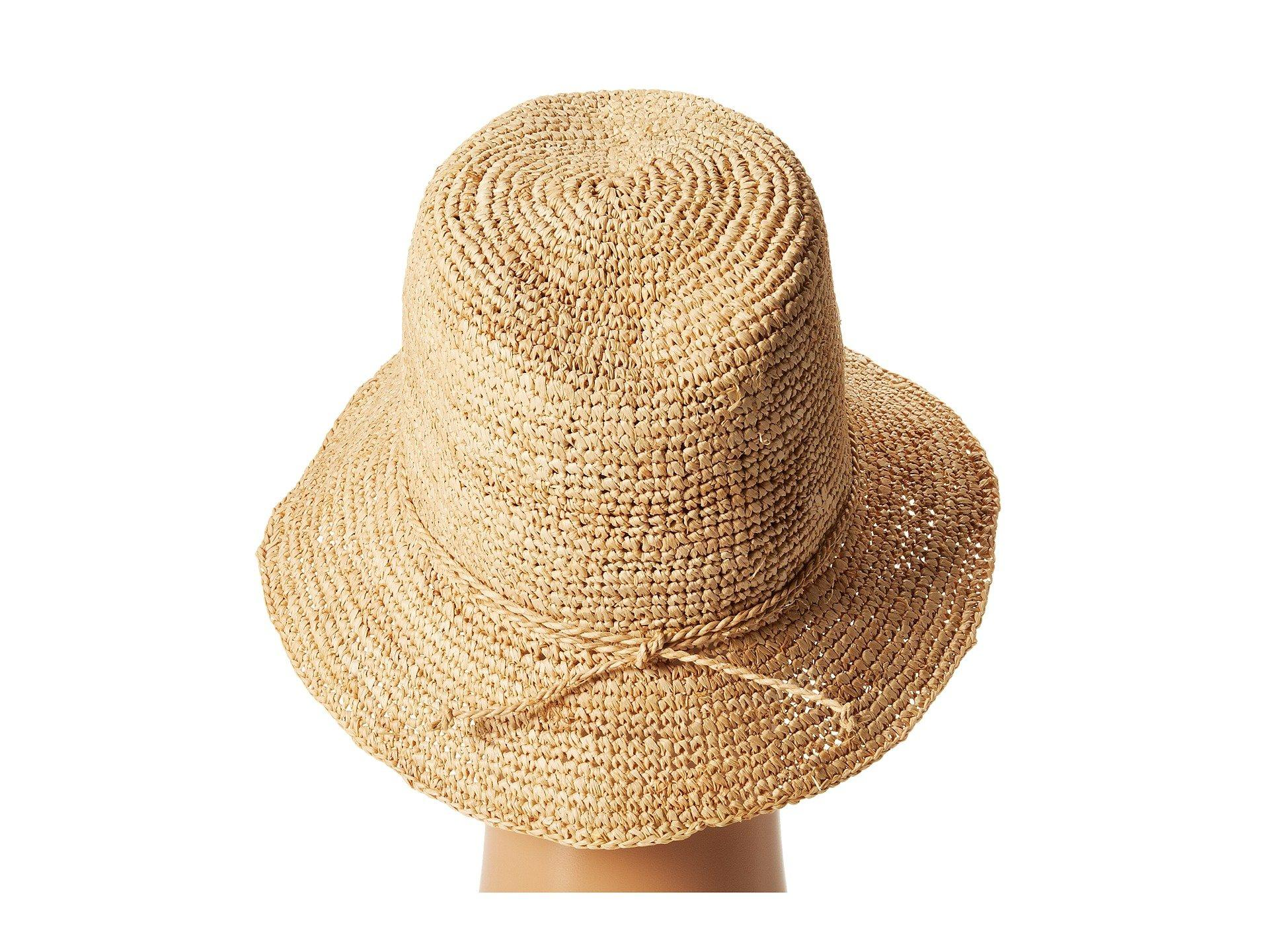 San Diego Hat Company - Brown Rhs3106 Crochet Raffia Bucket (natural) Bucket  Caps -. View fullscreen ecd4c8997b82