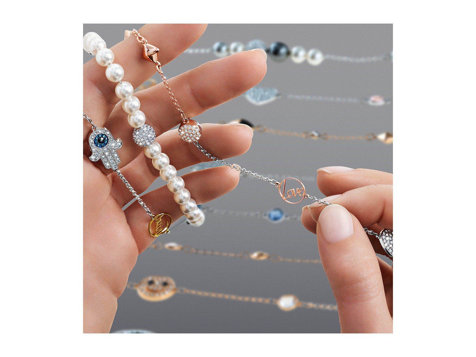fd616039ce052 Swarovski Multicolor Remix Collection Mixed Gray Crystal Pearl Bracelet  (dark Multi) Bracelet