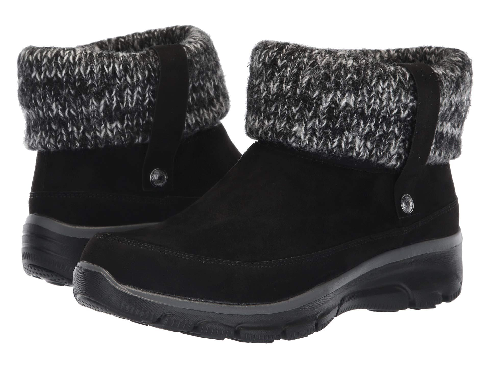 f91acb110729 Lyst - Skechers Easy Going-heighten-foldover Knit Collar Boot Ankle ...
