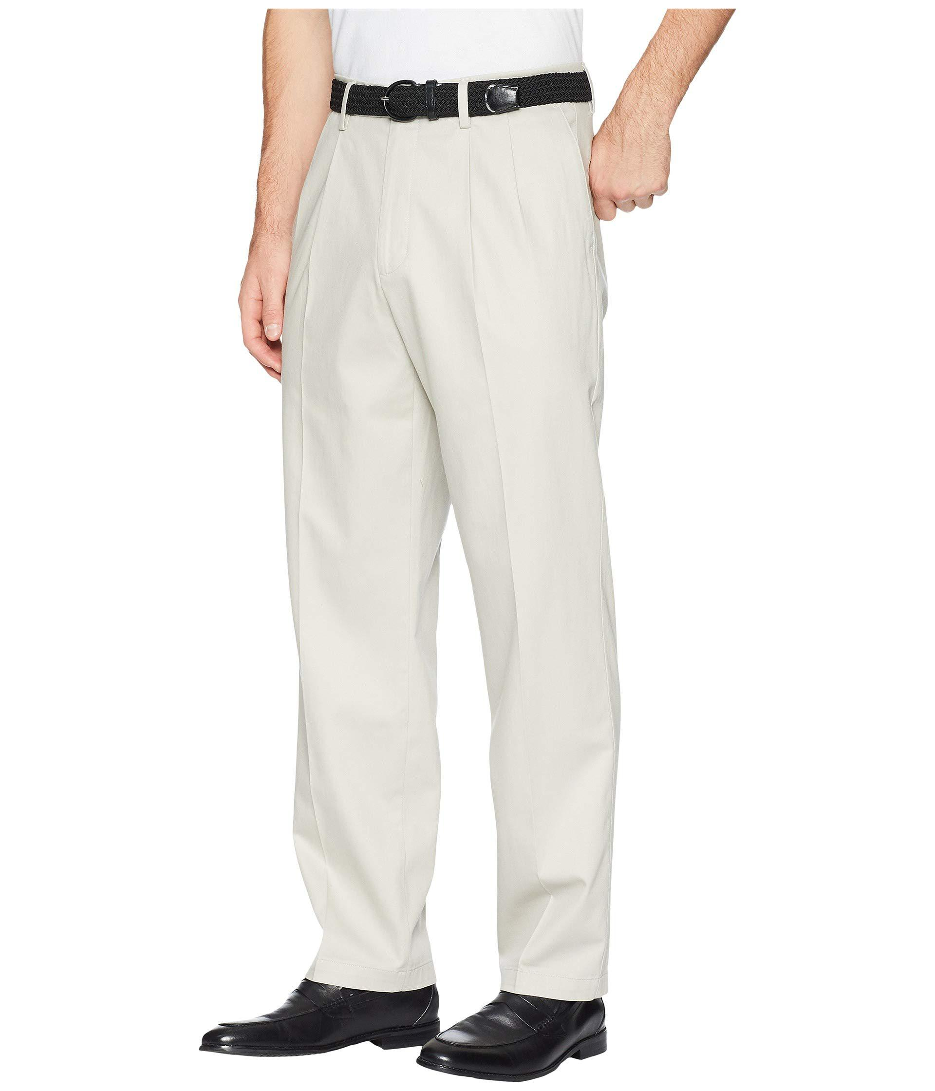 e9415b2d Lyst - Dockers Classic Fit Signature Khaki Lux Cotton Stretch Pants D3 -  Pleated ( Navy) Men's Casual Pants in Natural for Men