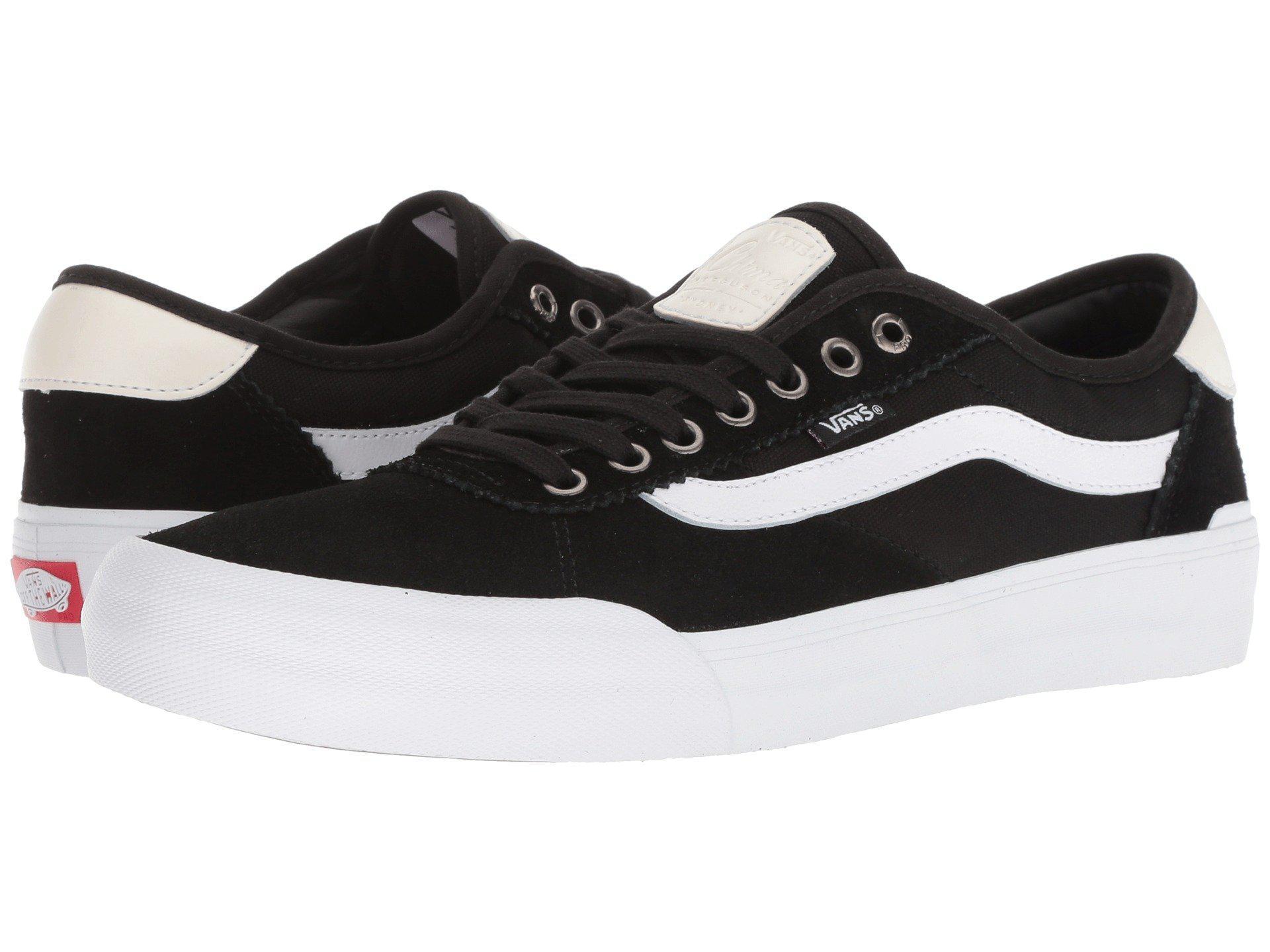 f2a0610373 Lyst - Vans Chima Pro 2 ((suede canvas) Black white) Men s Skate ...