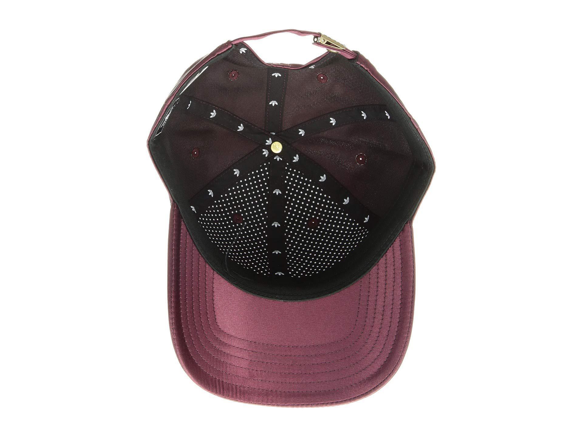 358690a59b87c Adidas Originals - Originals Relaxed Satin Strapback (ice Purple) Caps -  Lyst. View fullscreen