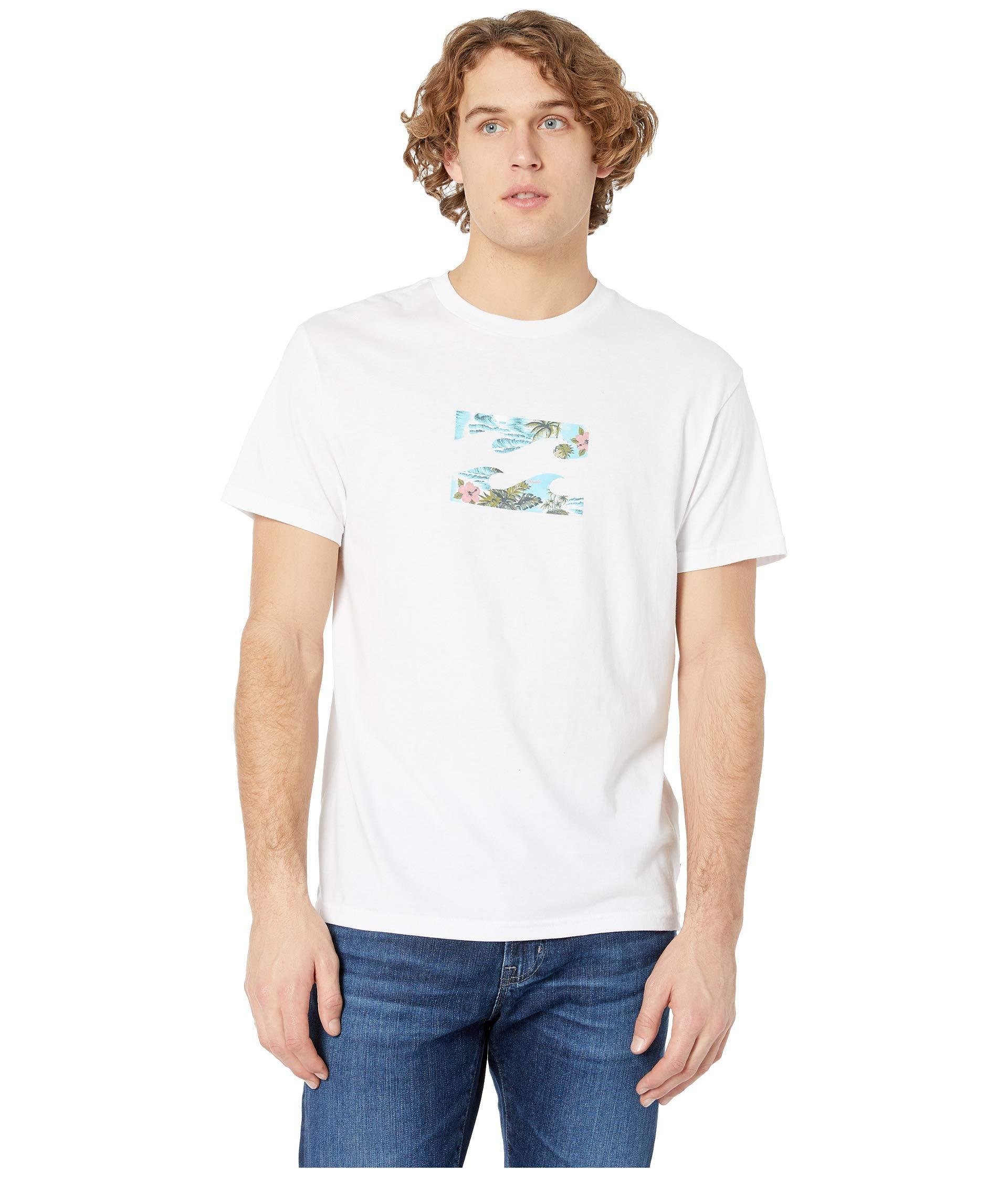 12489286ab0dae Lyst - Billabong Team Wave Short Sleeve Tee (white) Men s T Shirt in ...