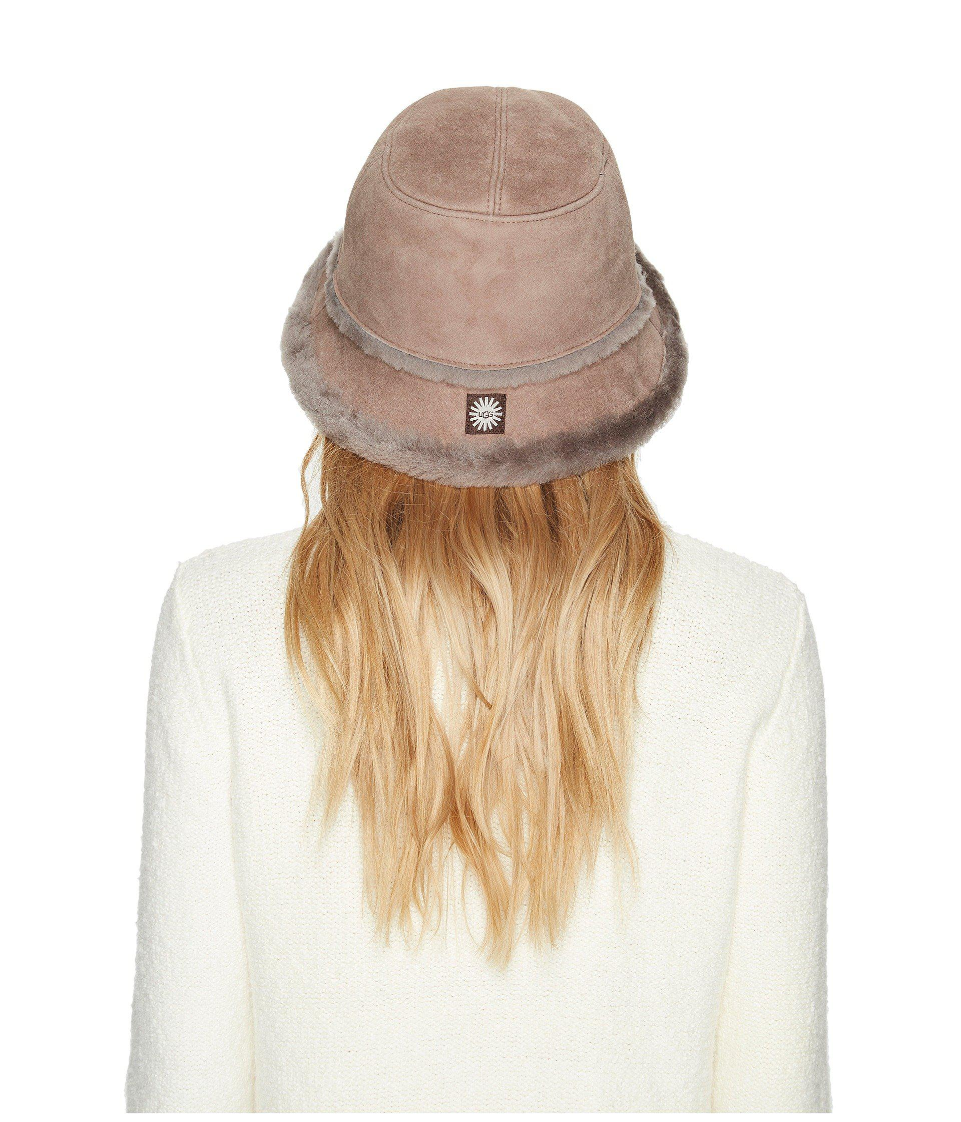 84df04a6f Women's Waterproof Sheepskin Bucket Hat