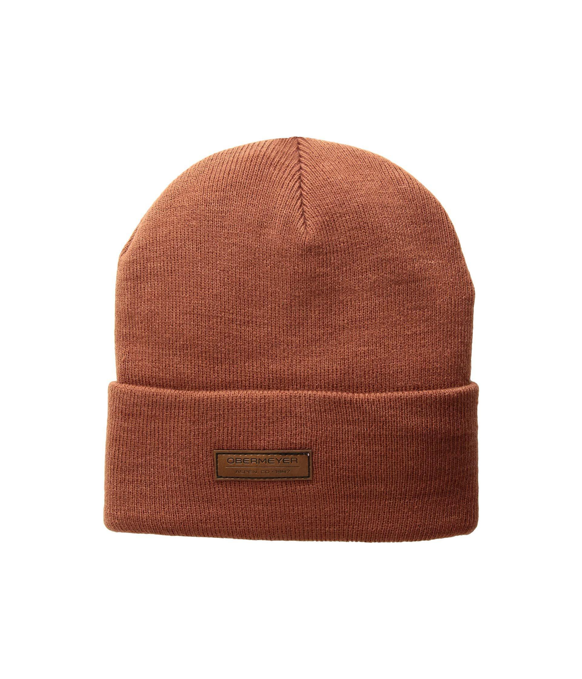 f9e0b442e14 Obermeyer - Brown Fold-over Knit Hat (rawhide Red) Caps for Men -. View  fullscreen