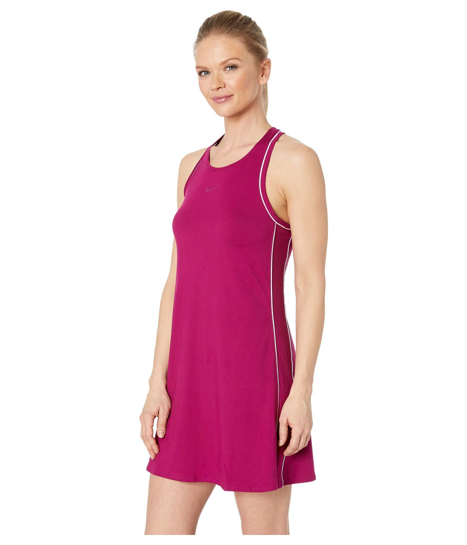 9ac18286d Lyst - Nike Court Dry Dress (black/white/white/black) Women's Dress in White