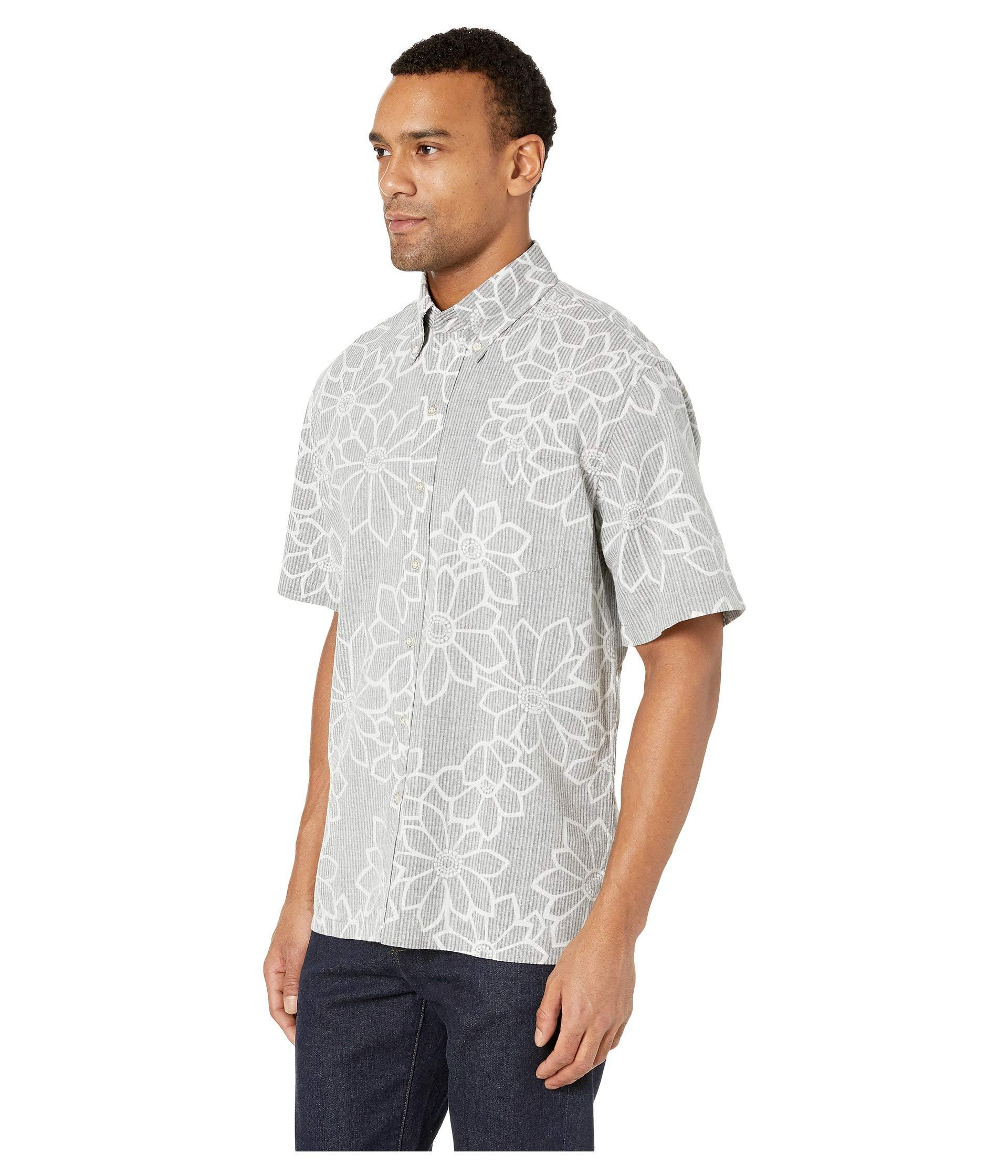 597d1eb36 Lyst - Reyn Spooner Kiku Blossoms Classic Fit Hawaiian Shirt (obsidian)  Men's Short Sleeve Button Up in Gray for Men