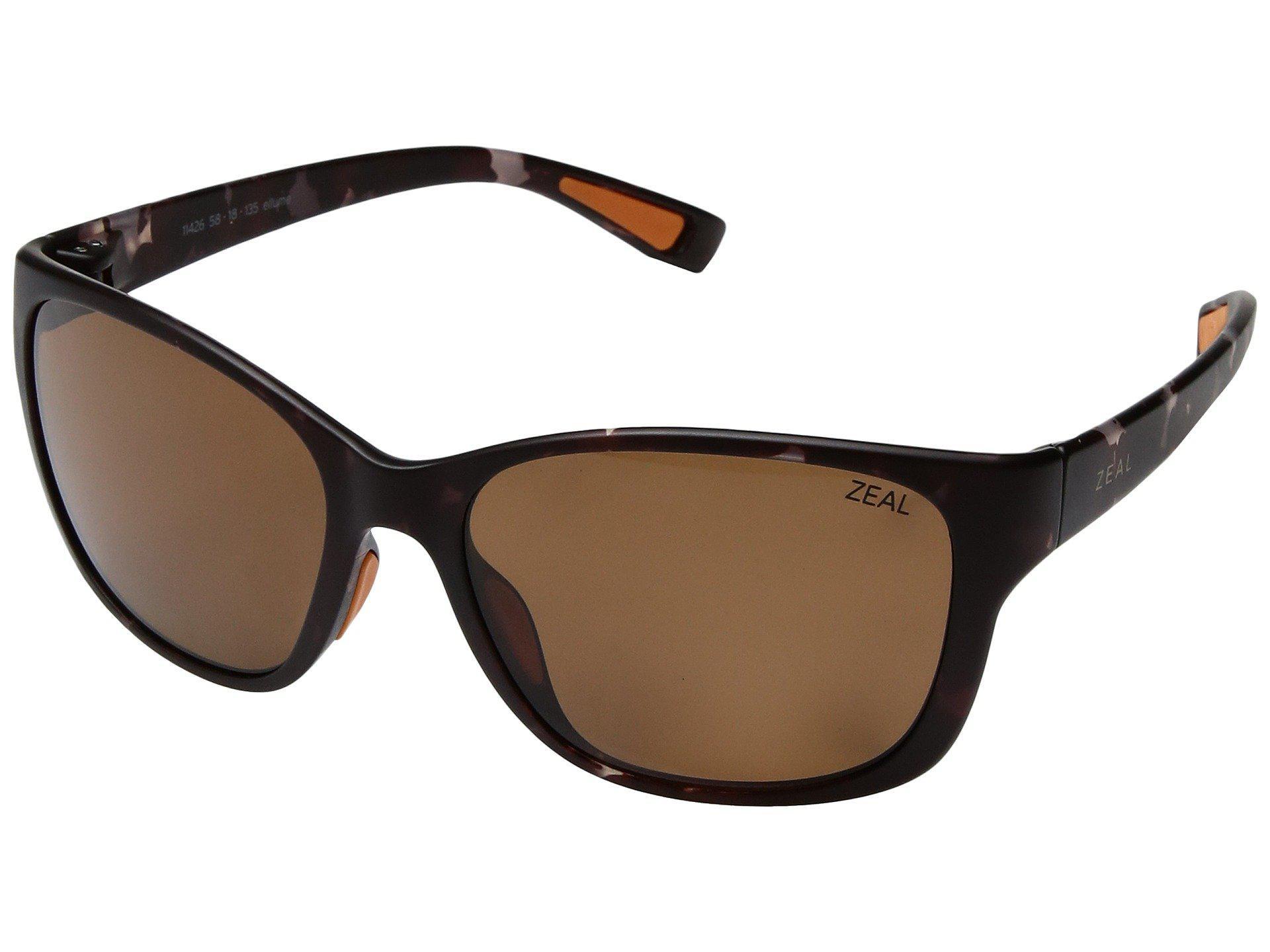 0ce1b2c67cf Zeal Optics. Women s Brown Magnolia (plum Gloss W  Polarized Dark Grey  Lens) Athletic Performance Sport Sunglasses