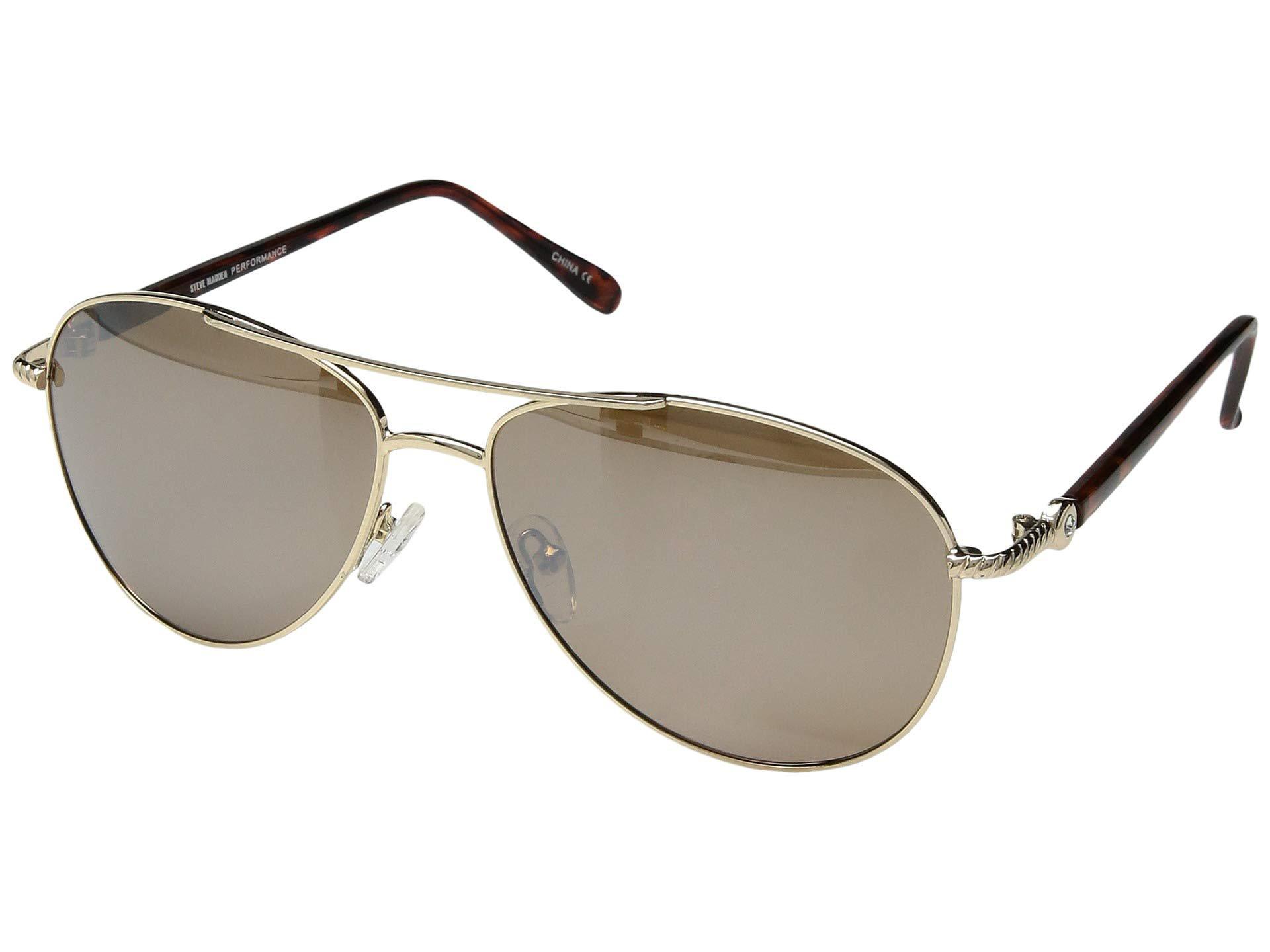 1558cf38aa10e Steve Madden. Women s Metallic Polarized Nina (rose Gold brown Lens rose  Gold Mirror) Fashion Sunglasses