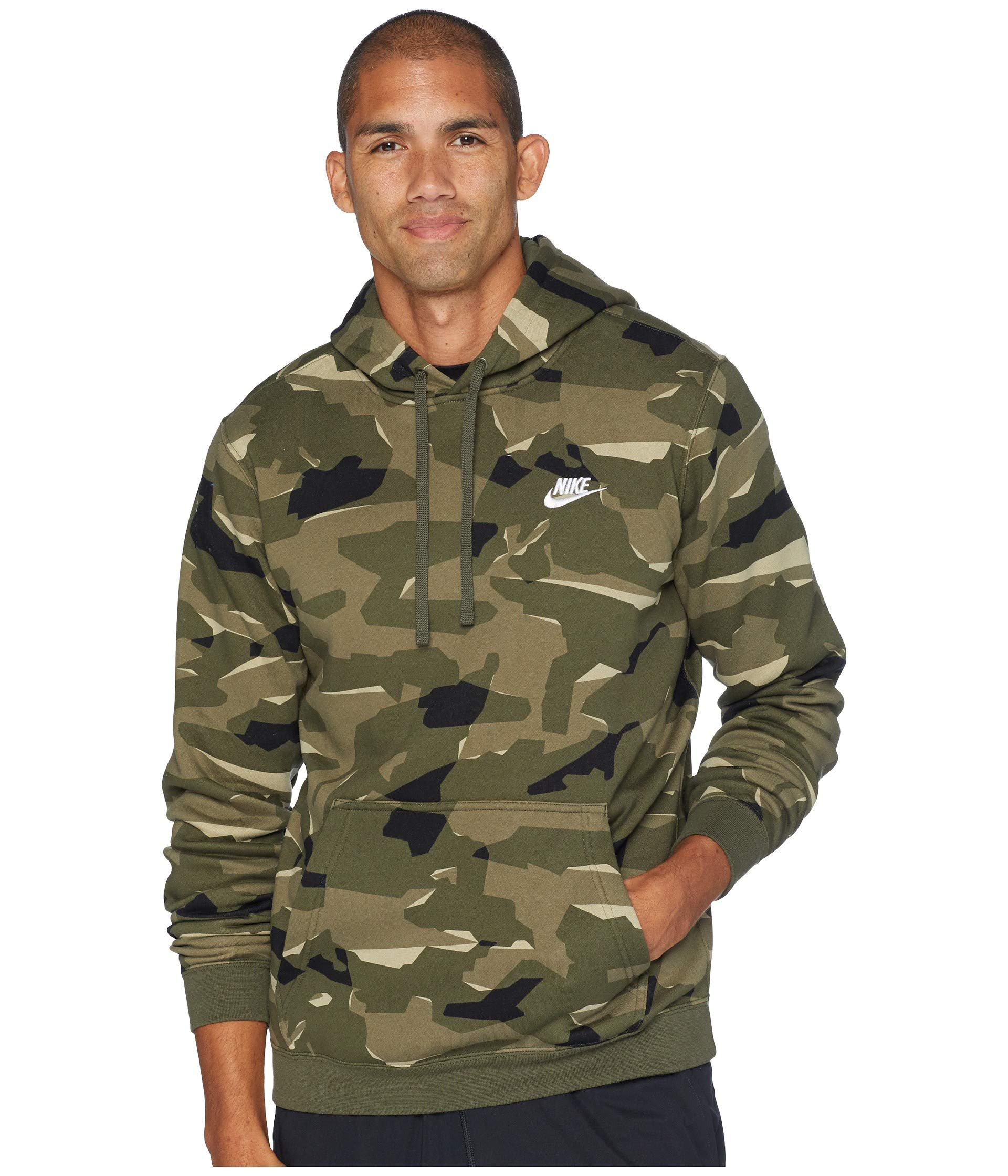 Nsw Club Camo Hoodie Pullover Bb (midnight Navymidnight Navywhite) Men's Sweatshirt
