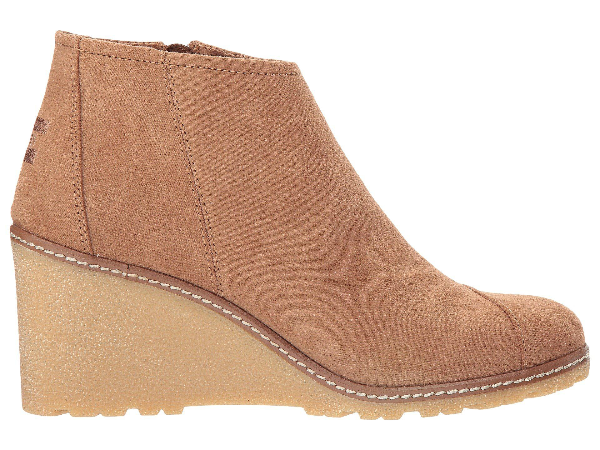 TOMS Rubber Avery Wedge in Brown - Lyst