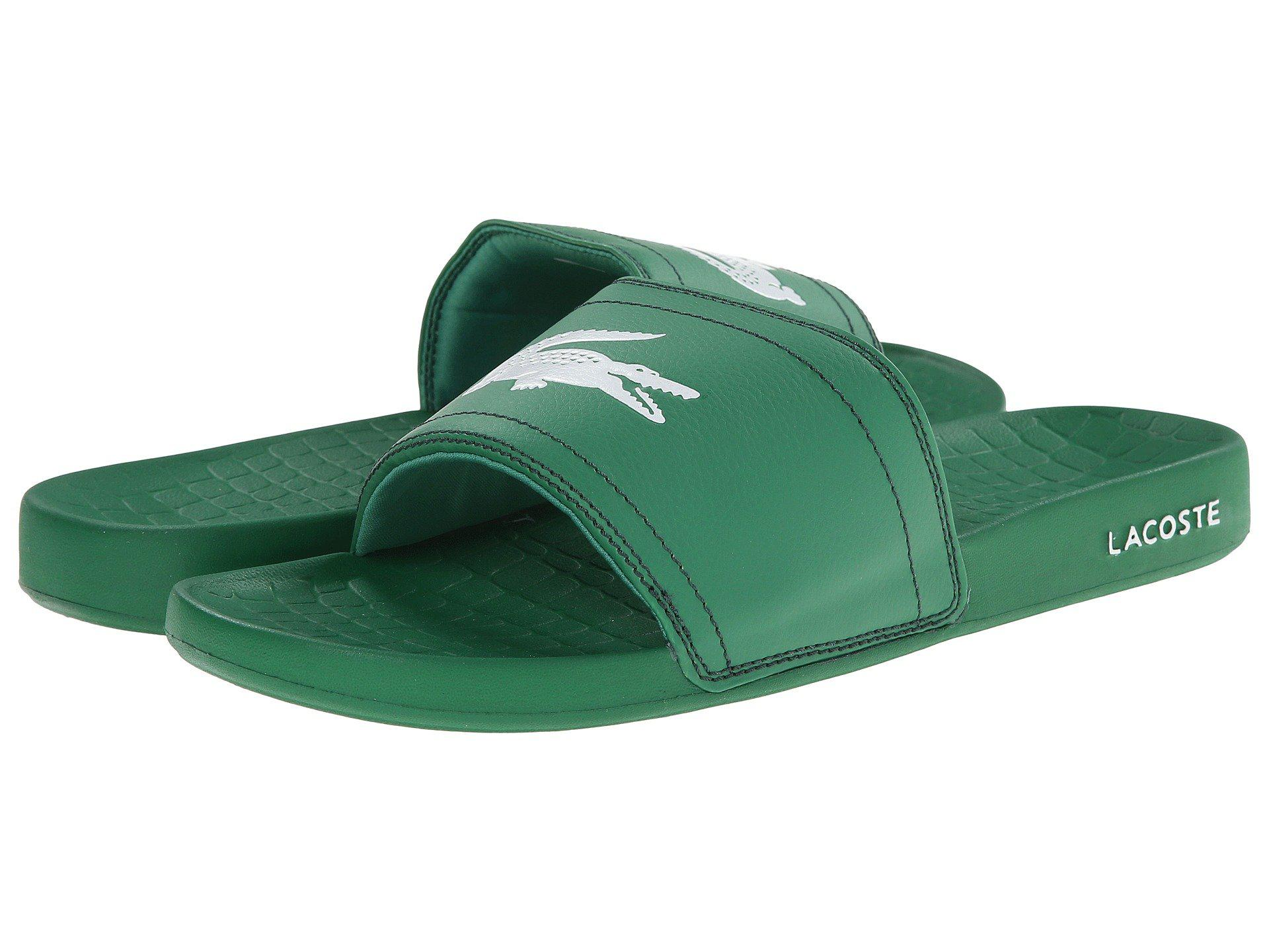 f3a12733e41c5a Lacoste - Fraisier Brd1 (green green) Men s Slide Shoes for Men - Lyst.  View fullscreen