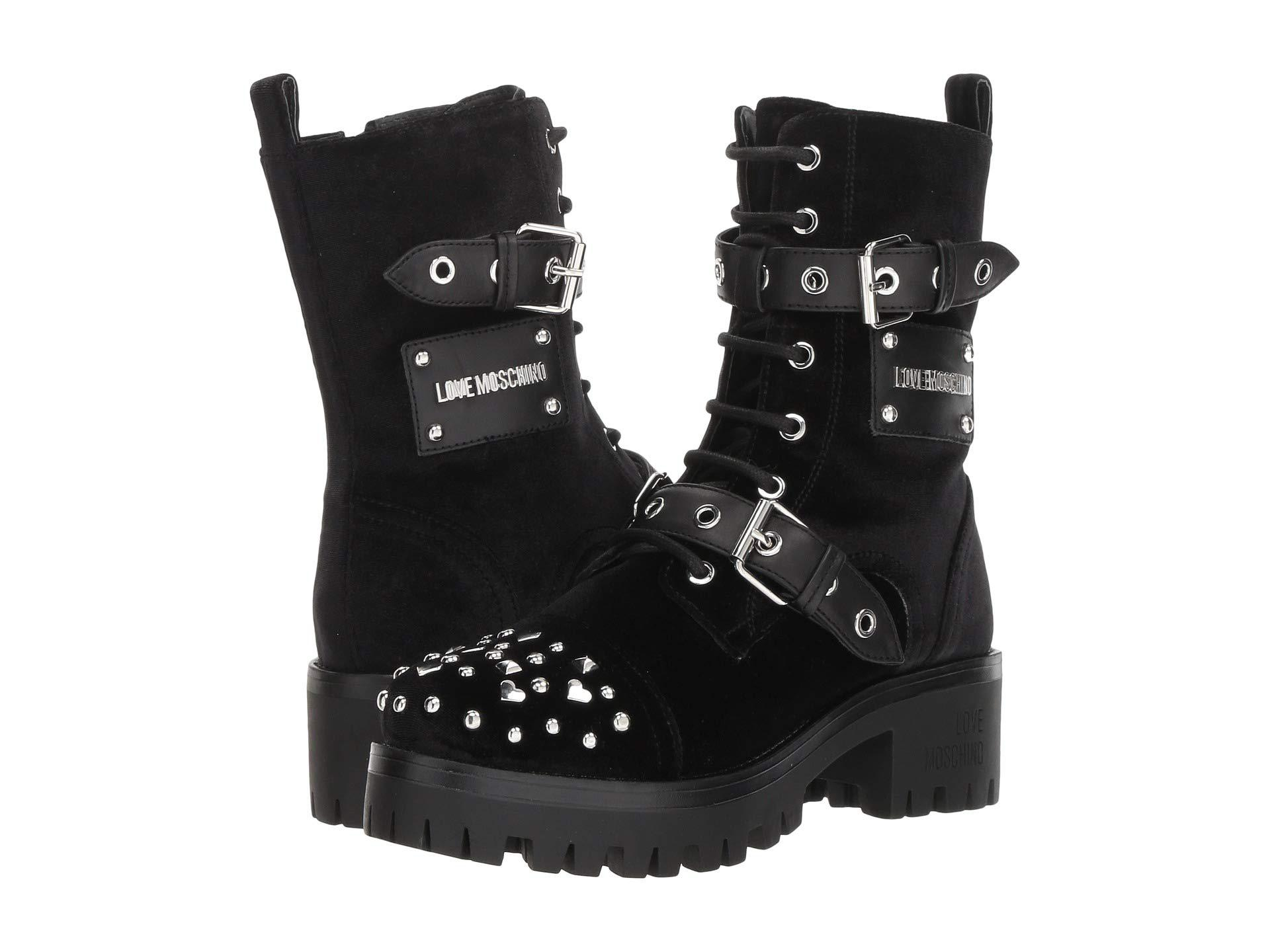 Love Moschino Womens Buckle Ankle Boot