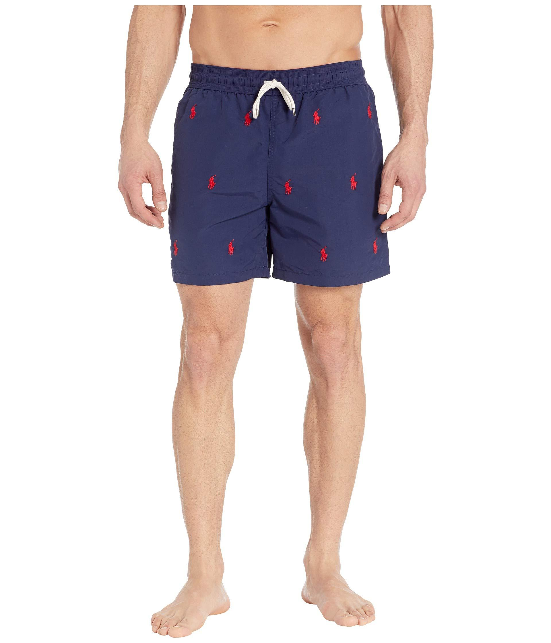 c7ad4a6409 Polo Ralph Lauren - Blue Traveler Swim Trunks (newport Navy/aoe) Men's  Swimwear. View fullscreen