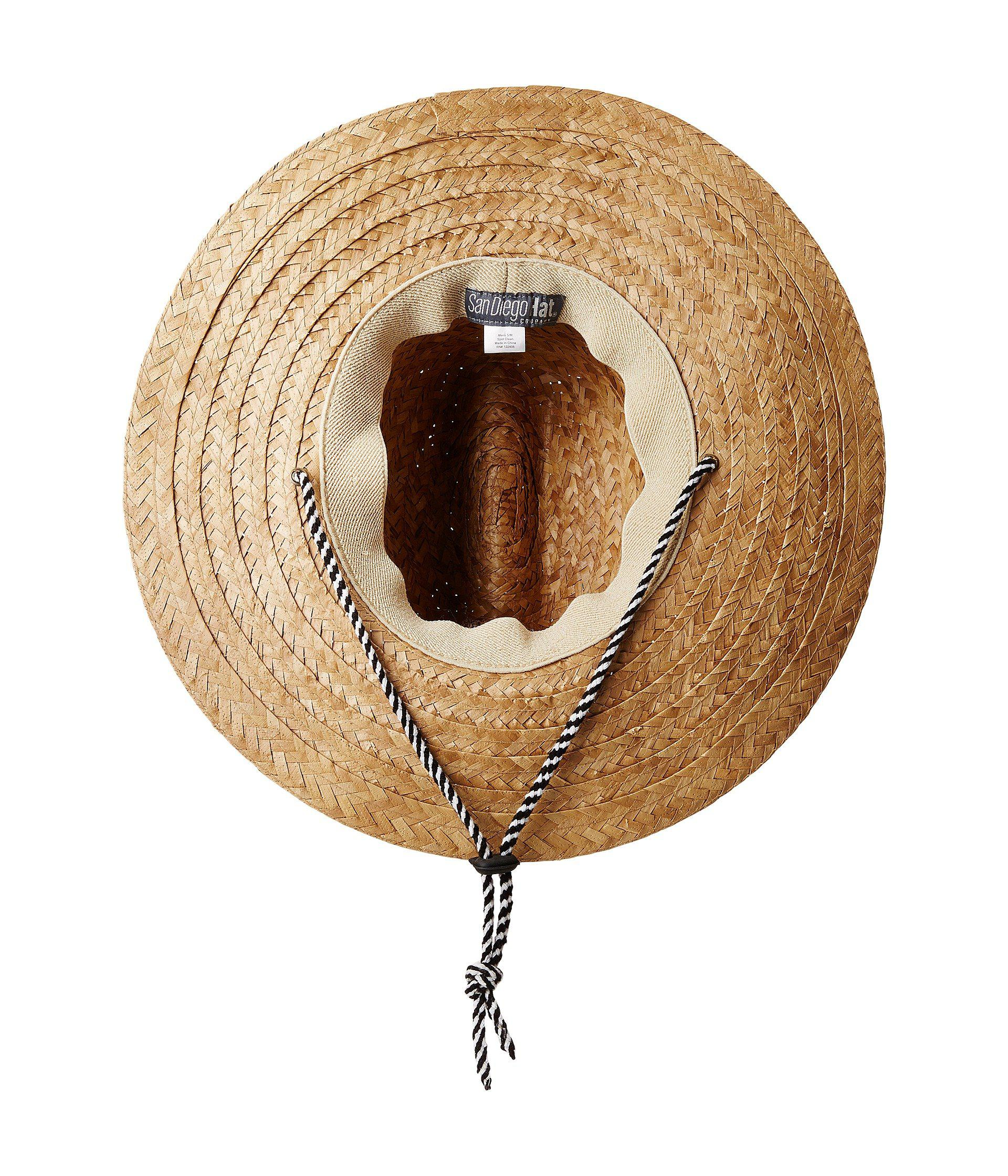9cdf96b2cd92a Lyst - San Diego Hat Company Kwai Braided Straw Lifeguard (natural) Caps in  Natural for Men