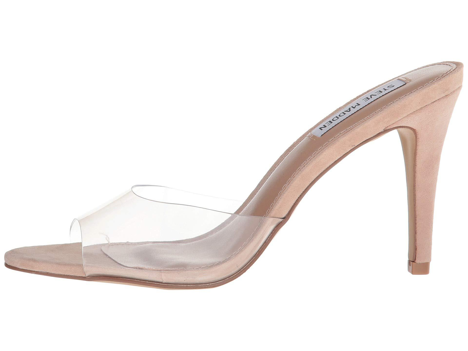 decb957cb1b Lyst - Steve Madden Erin Heeled Mule (pink Neon) High Heels in Natural