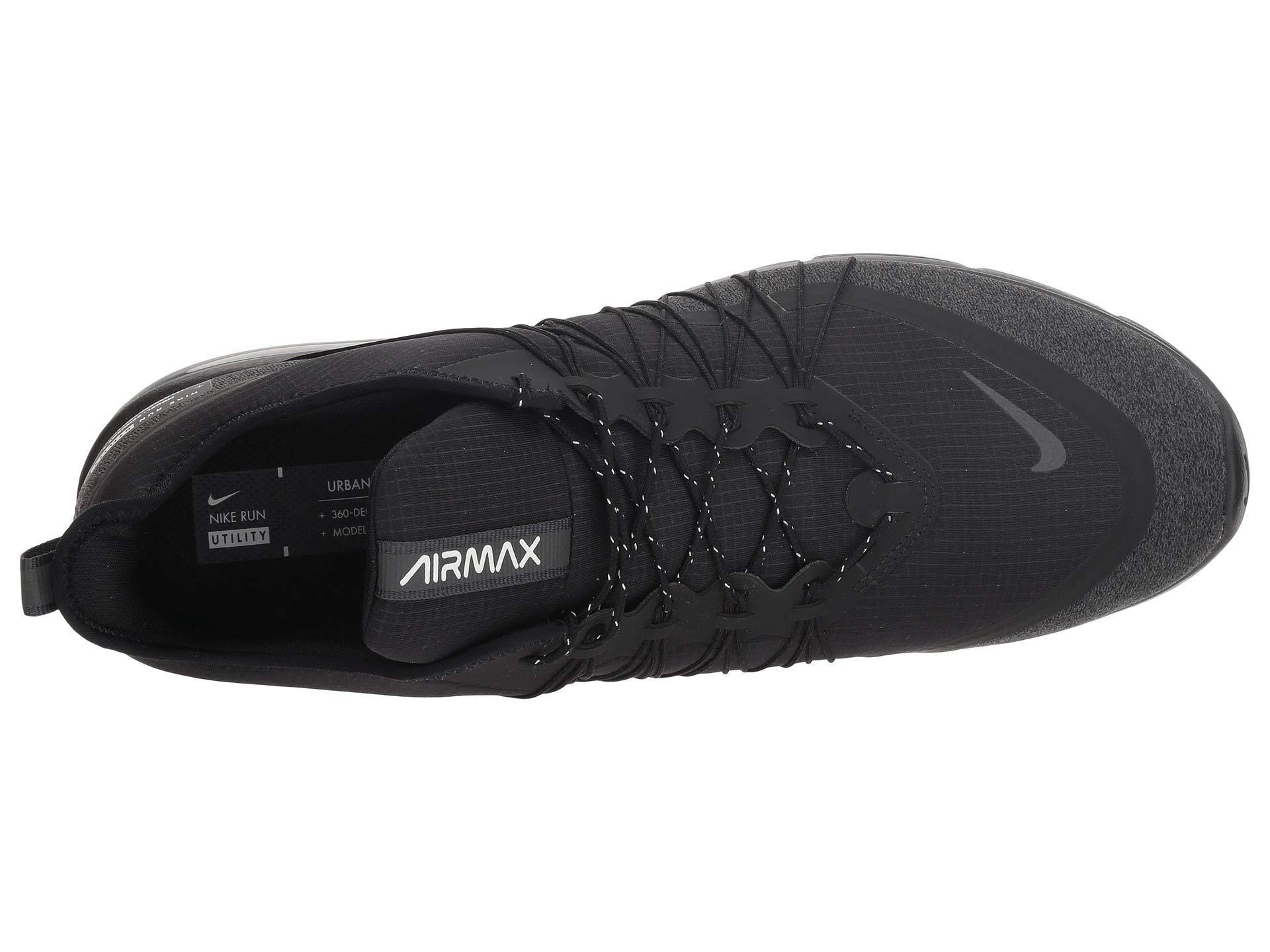 263148591a7 Air Max Sequent 4 Shield (black/metallic Silver/dark Grey) Men's Running  Shoes