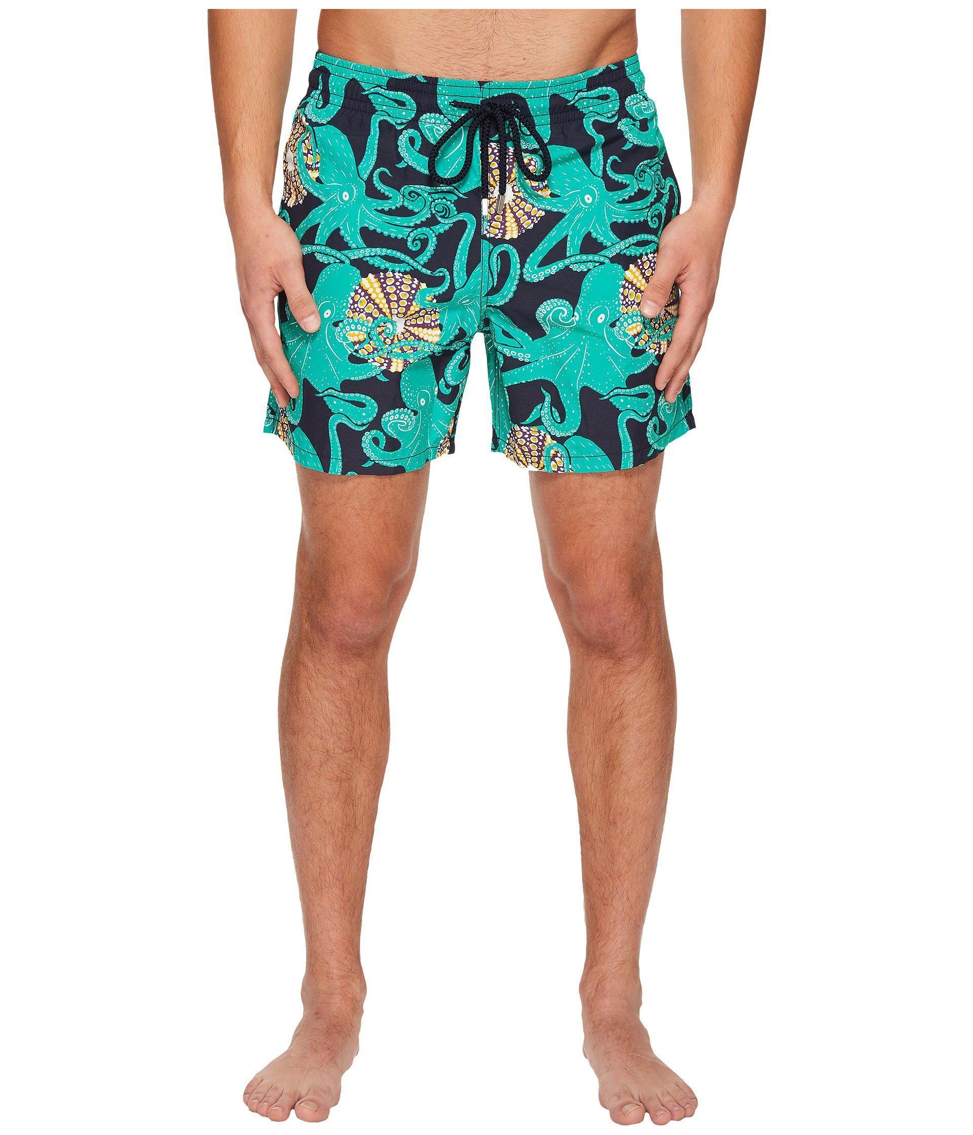 b87415340 Vilebrequin Moorea Octopus Swim Trunk (navy) Men's Swimwear in Blue ...