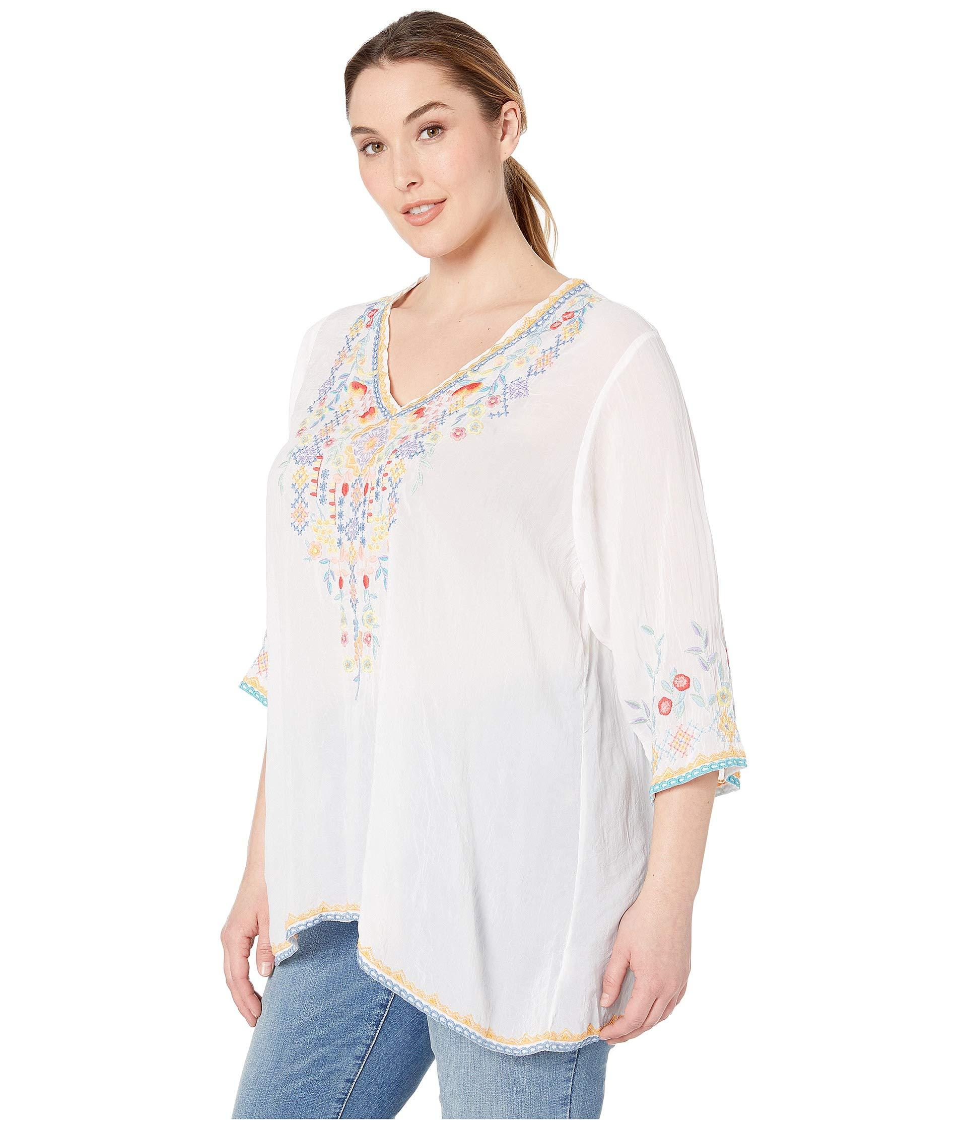 07be164b2f4cd Lyst - Johnny Was Plus Size Ryleigh Blouse (white) Women s Blouse in White