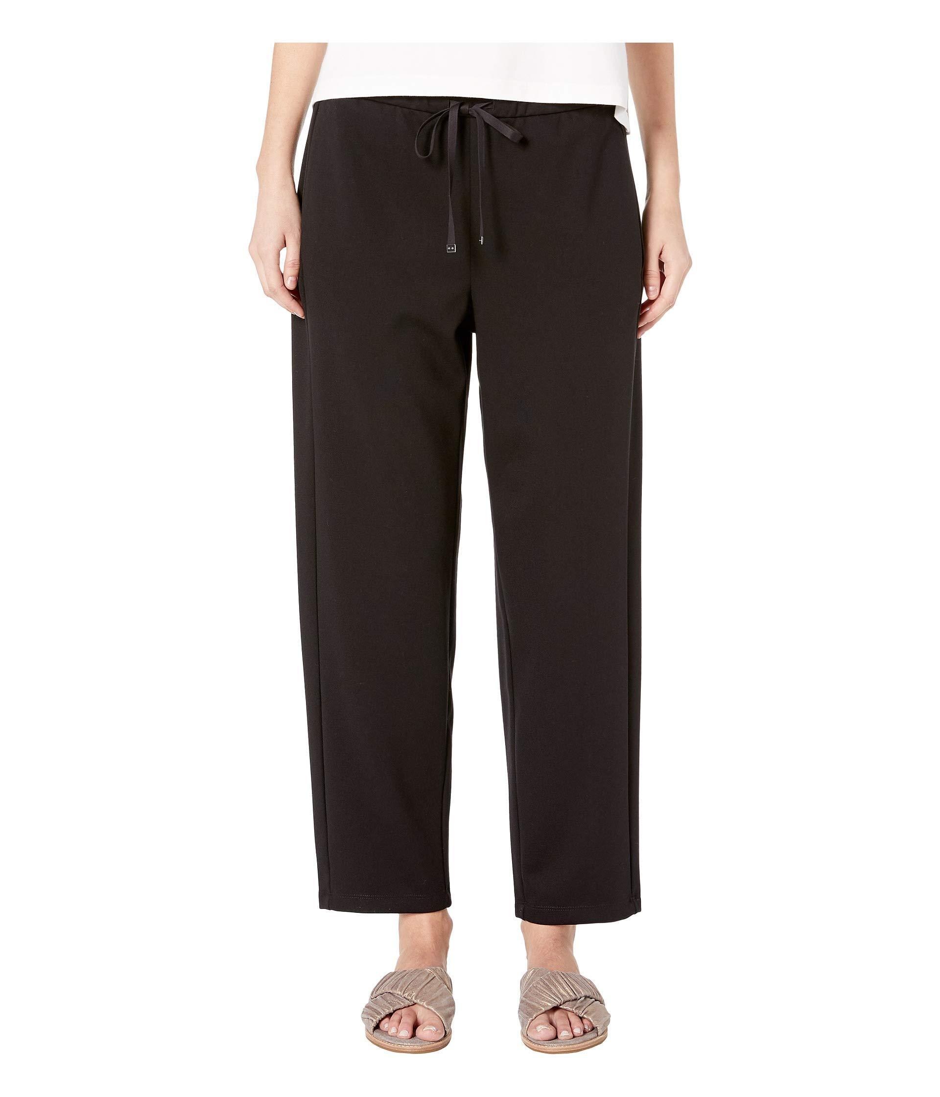 0e4537a1d6b469 Eileen Fisher. Travel Ponte Drawstring Pant (black) Women's Casual Pants