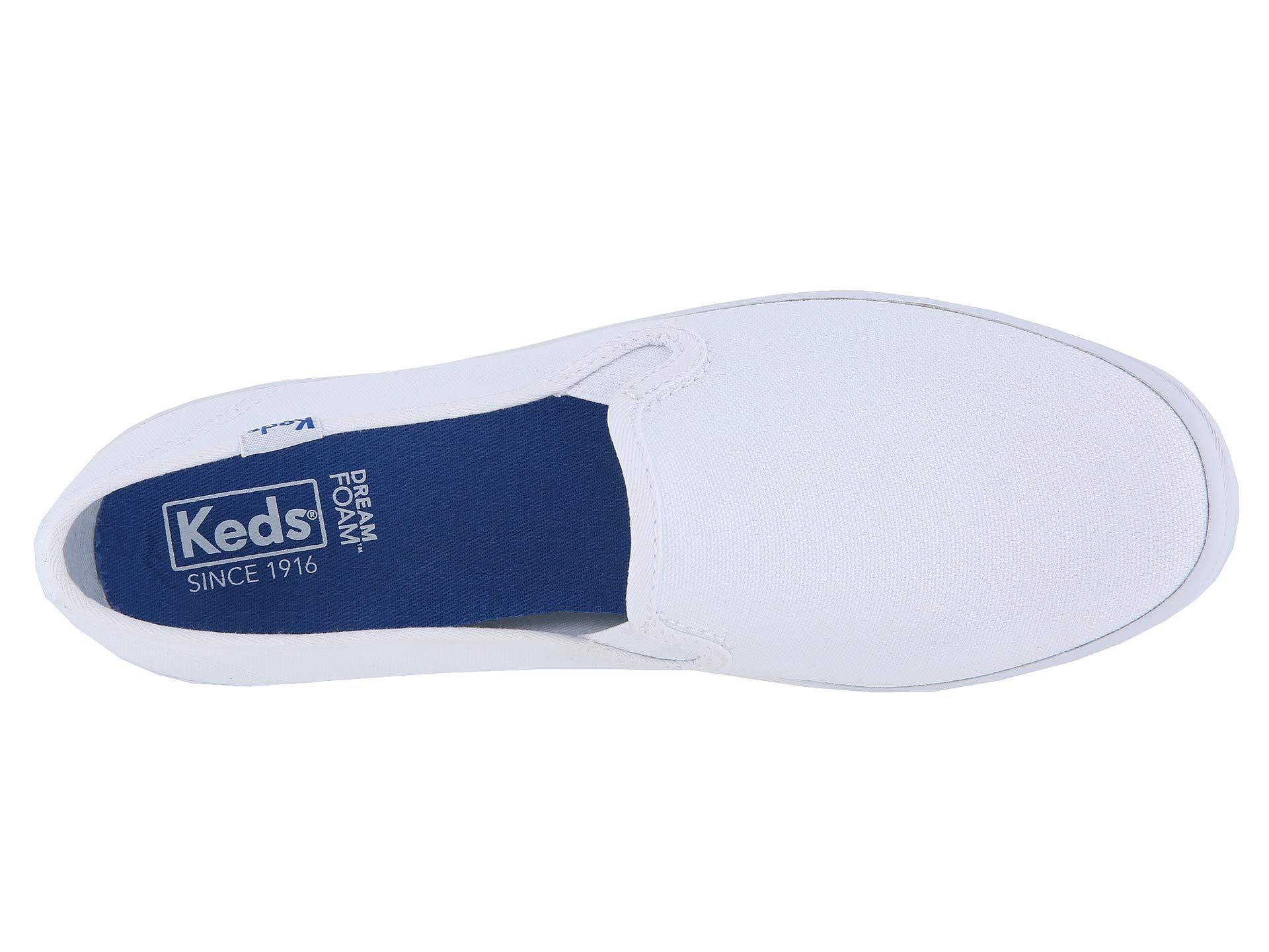 6e5cef5a7 Lyst - Keds Champion-canvas Slip-on (white Canvas) Women s Slip On ...