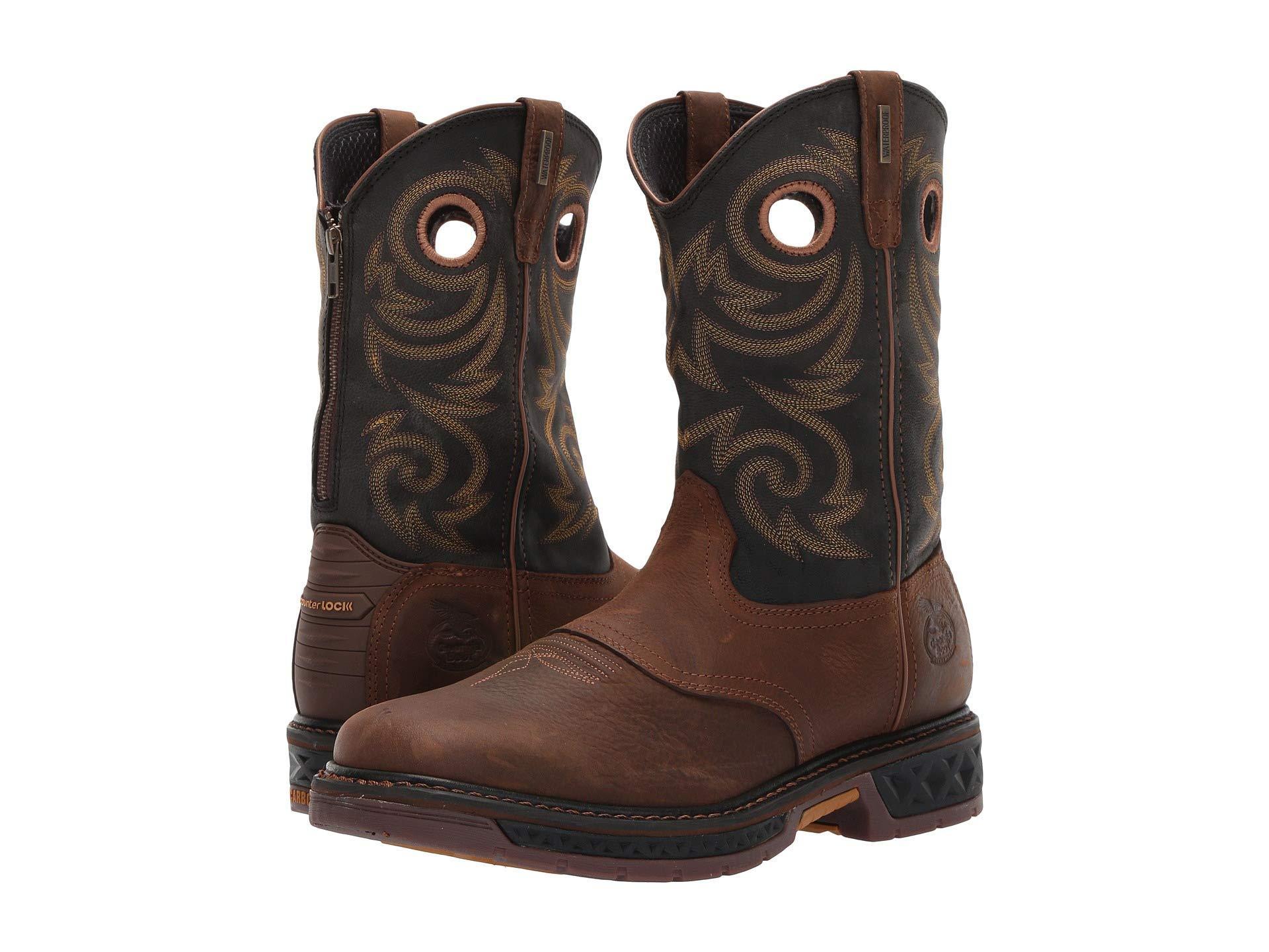 176dbeae0a7 Men's Brown Carbo-tec 11 Soft Toe Waterproof Back Zip