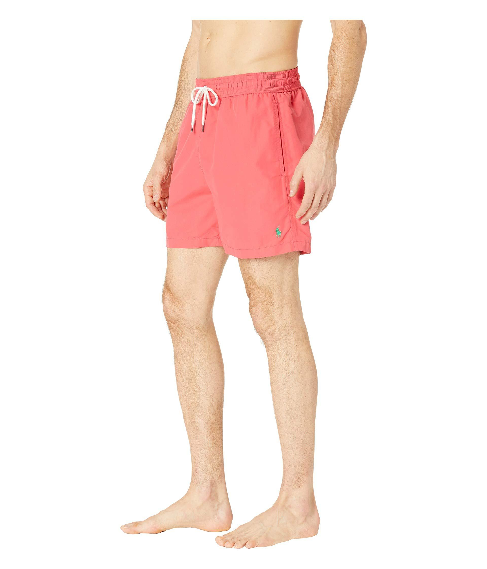 9bf5aff1d7 ... best price lyst polo ralph lauren nylon traveler swim shorts cactus  flower mens swimwear in pink