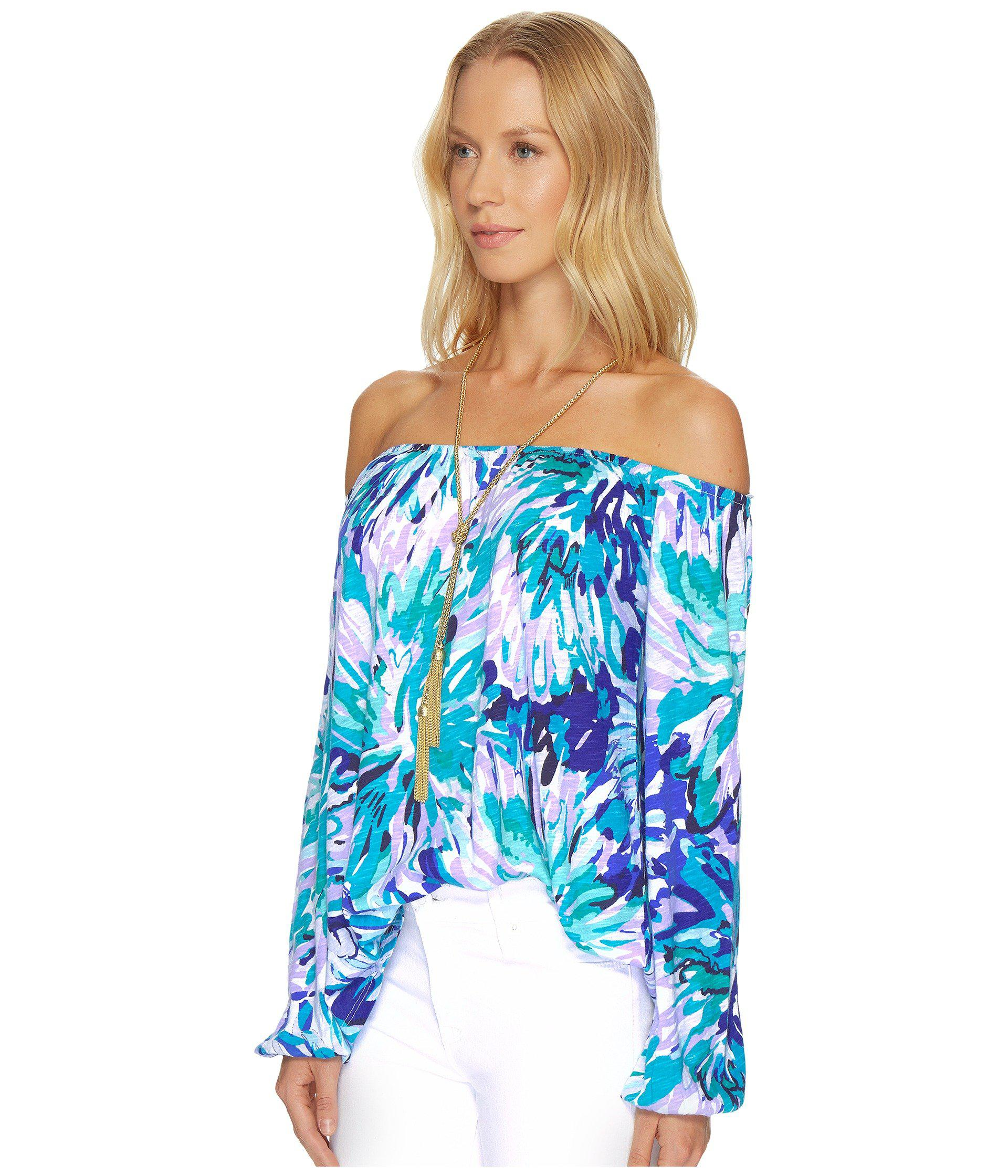 cb984e83f17aa Lyst - Lilly Pulitzer Enna Knit Top in Blue