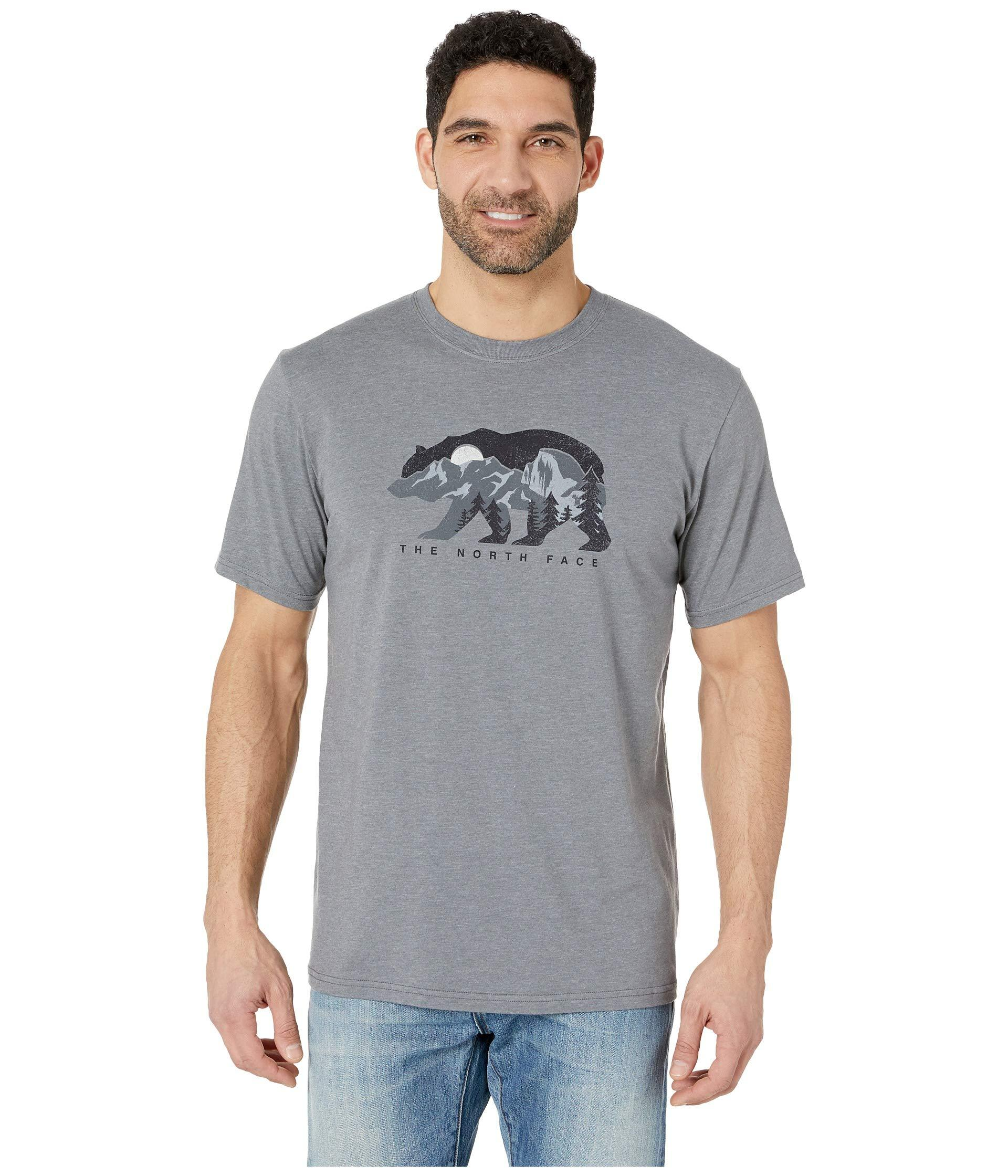 0399b25f5 The North Face Gray Short Sleeve Bearitage Rights Tee (storm Blue) Men's T  Shirt for men