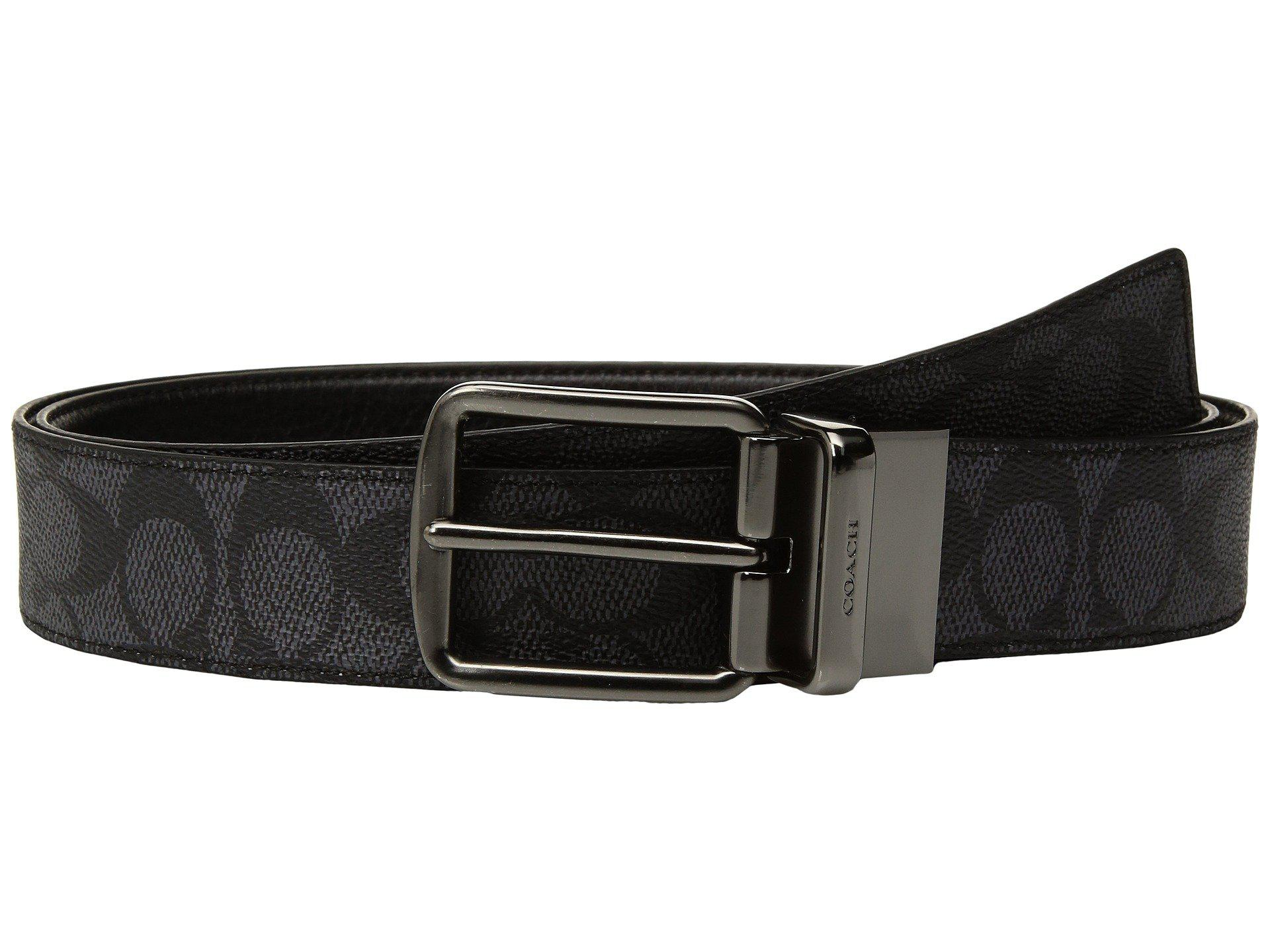 245b35542c77 COACH - Black Wide Harness Signature Reversible Belt (blue) Men s Belts for  Men -. View fullscreen