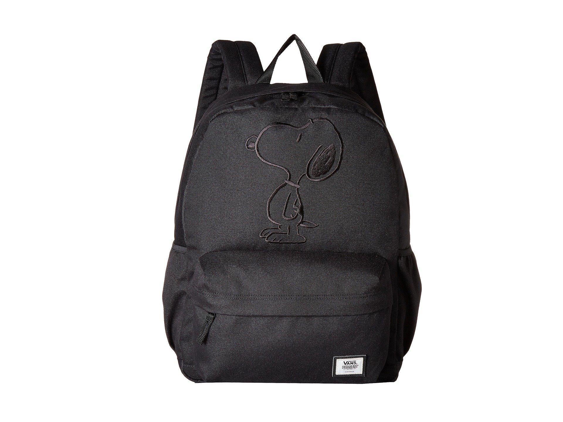 f0df1237351 Lyst - Vans Peanuts Tonal Realm Plus Backpack in Black
