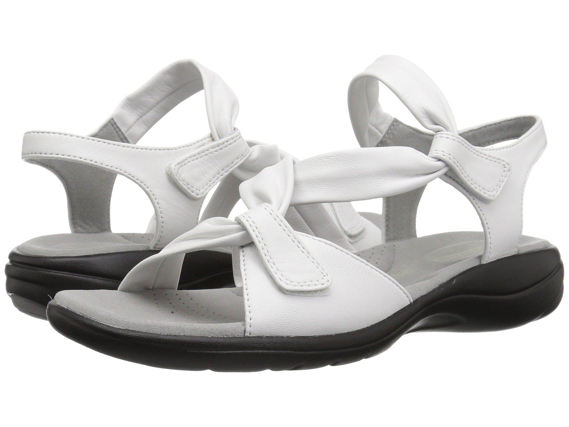 f80ec013161aa5 Lyst - Clarks Saylie Moon (pewter Metallic Leather) Women s Sandals ...
