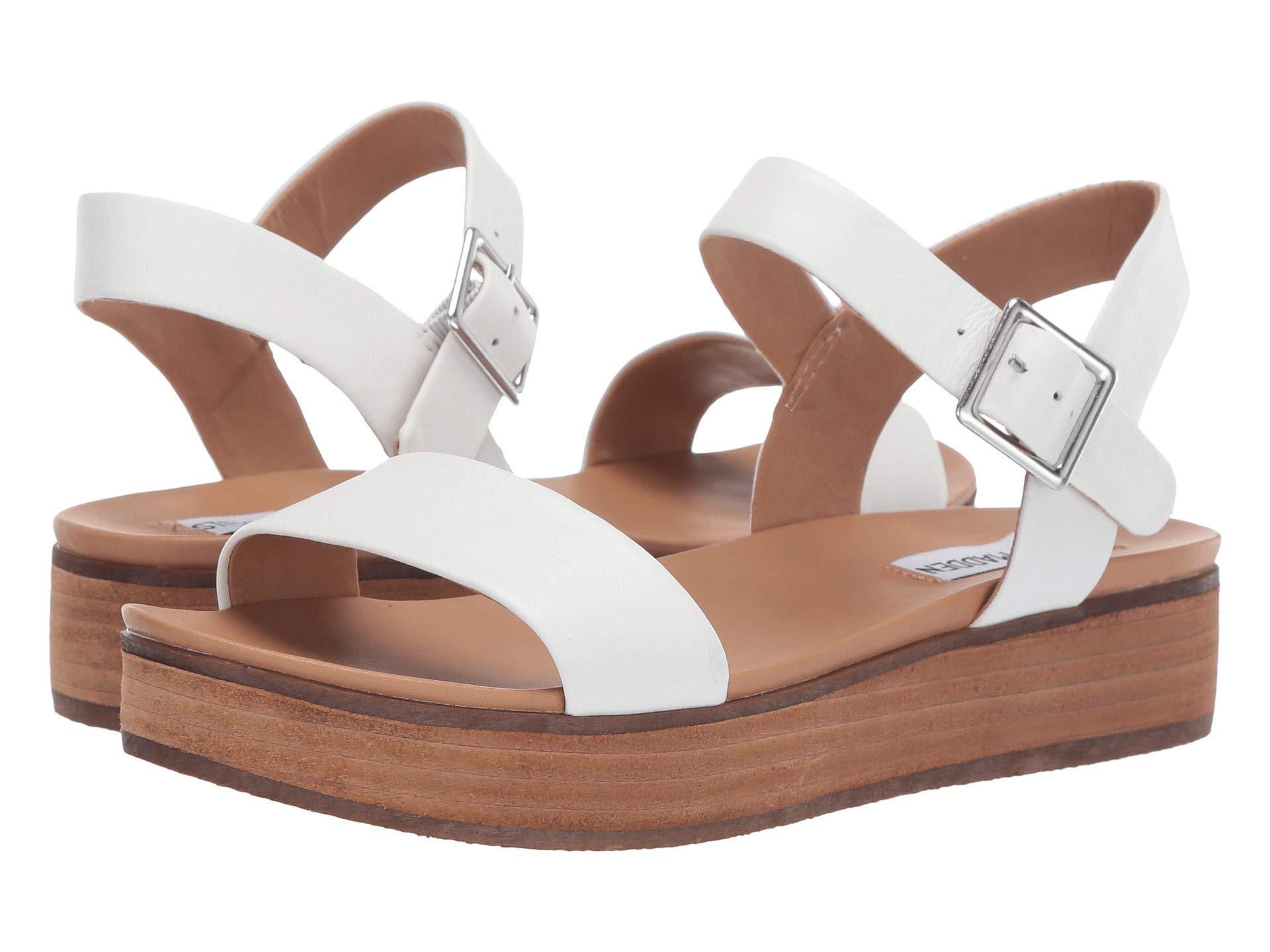 34b6187ea276 Lyst - Steve Madden Aida (natural Snake) Women s Shoes in White