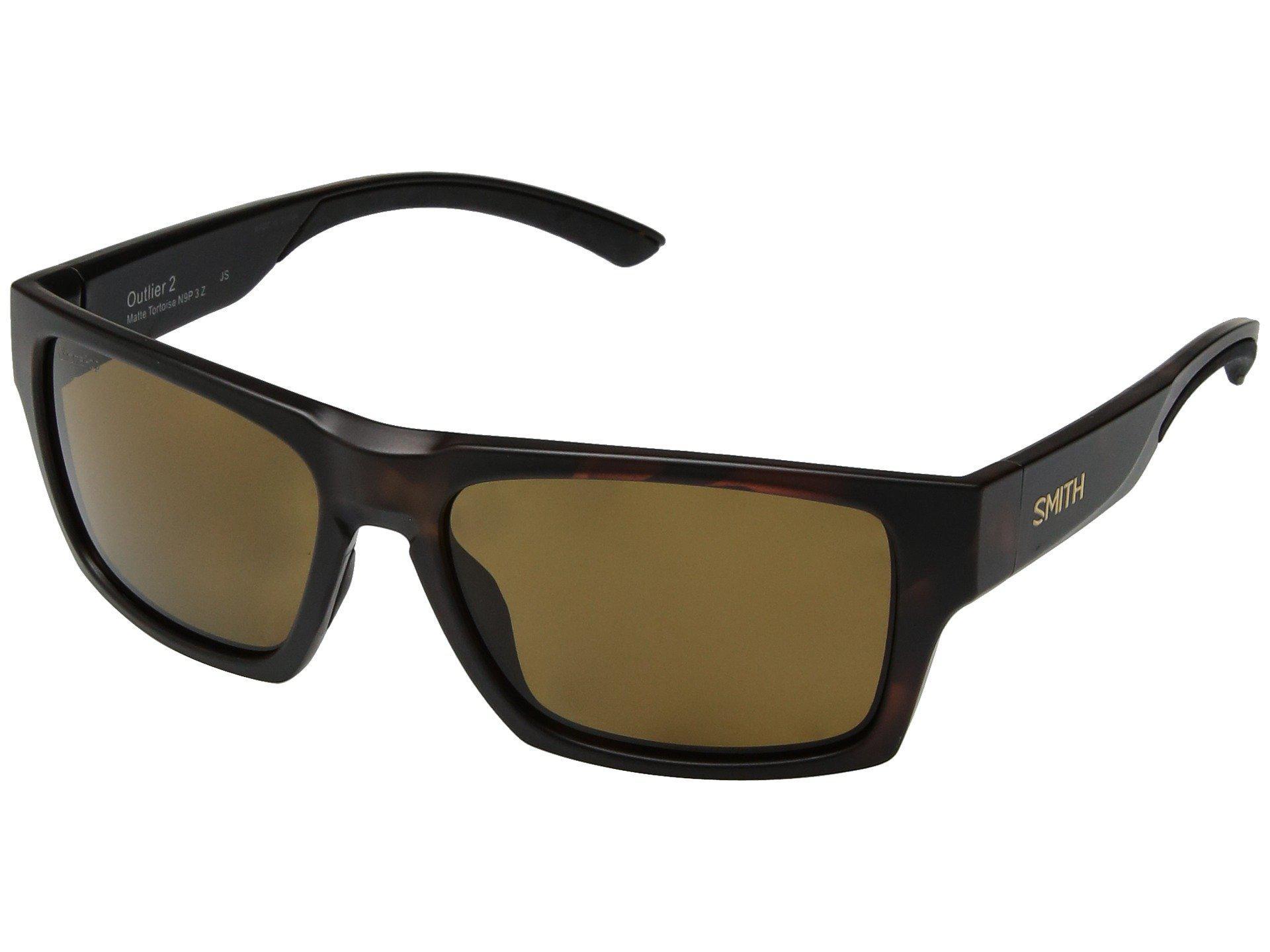 36fb1414c4 Smith Optics. Men s Brown Outlier 2 (matte Black gray Green Chromapoptm Polarized  Lens) Athletic Performance Sport Sunglasses